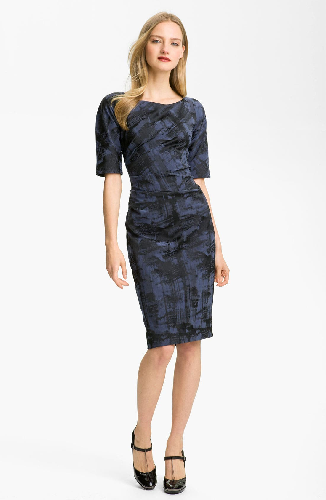 Main Image - Lela Rose Side Ruched Dress