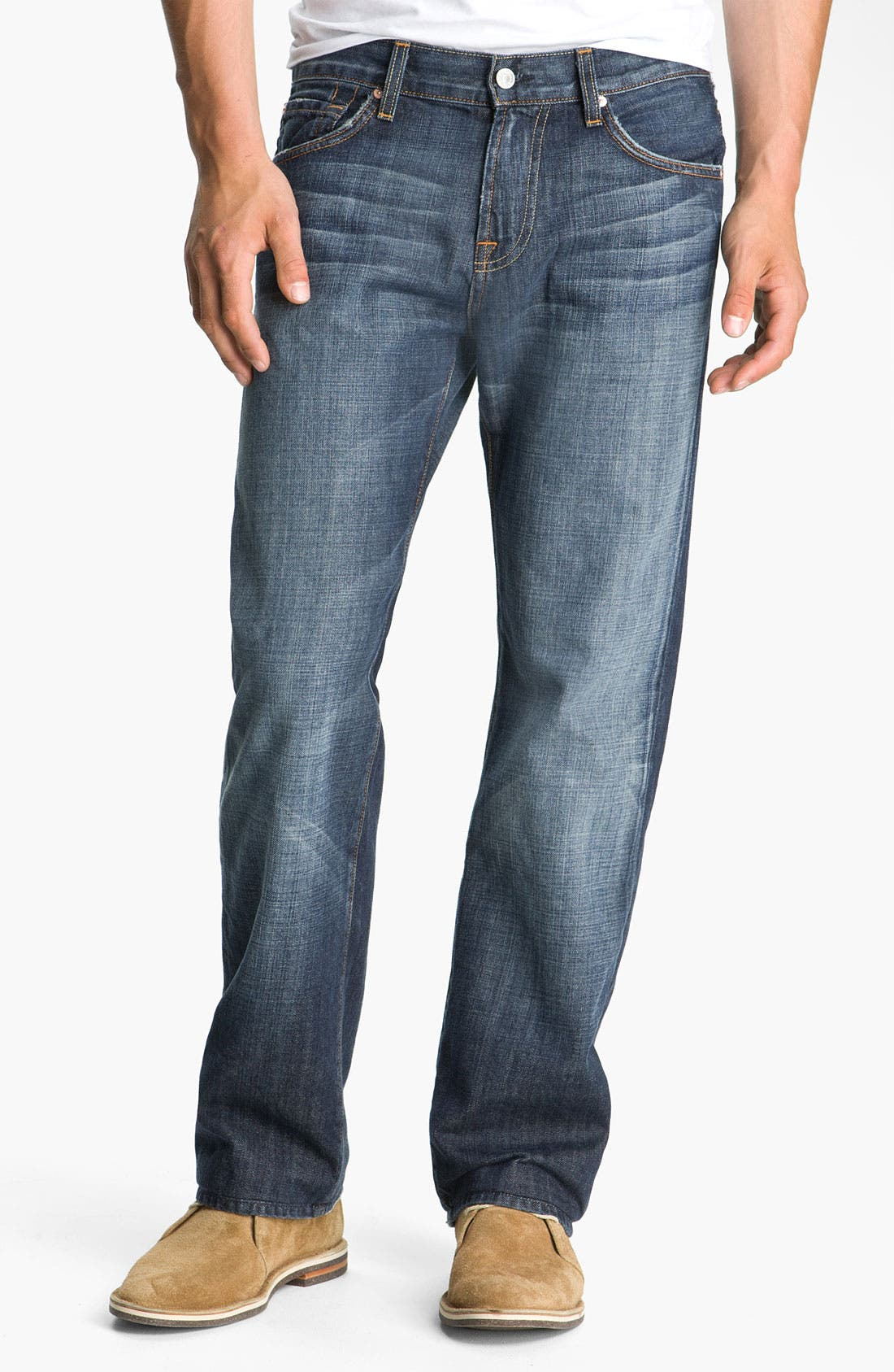 Alternate Image 1 Selected - 7 For All Mankind® 'Austyn' Relaxed Fit Jeans (New York Dark)
