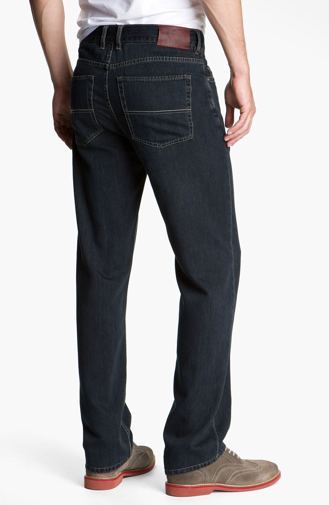 Alternate Image 1 Selected - Tommy Bahama Denim 'Standard Island Ease' Straight Leg Jeans (Blue Black Overdye)