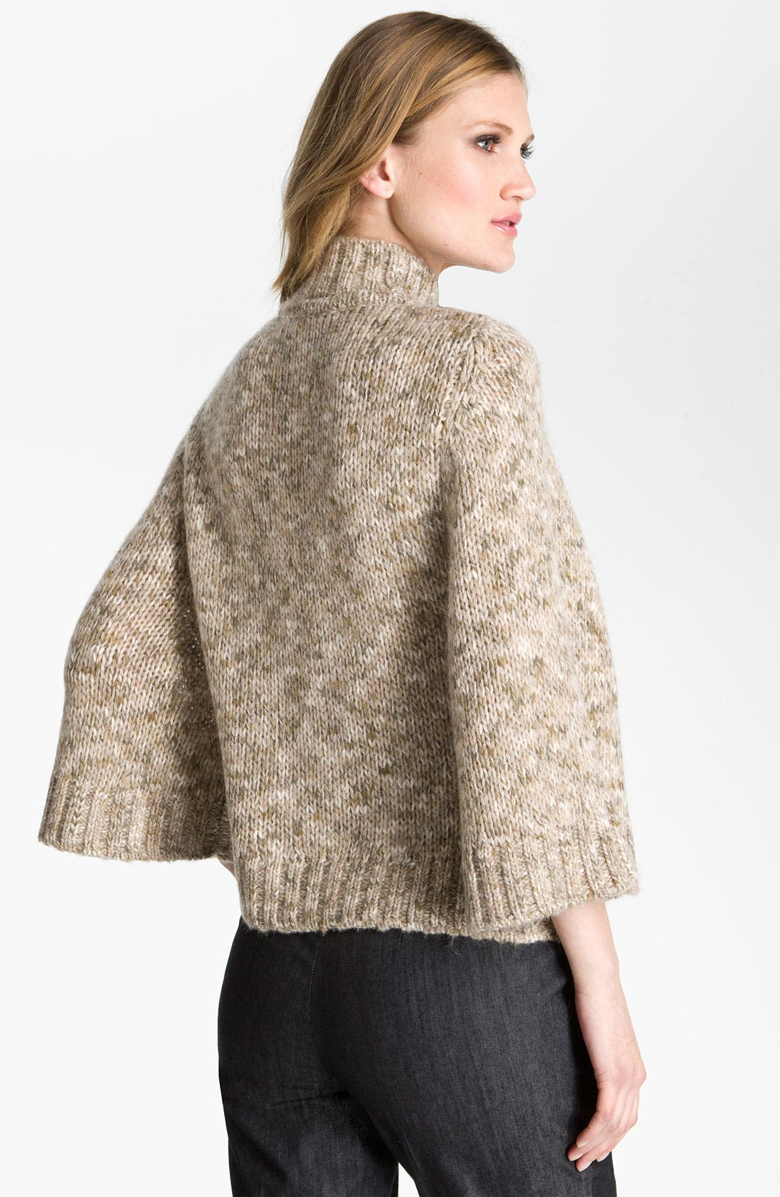 Alternate Image 2  - St. John Yellow Label Belted Tweed Knit Cardigan