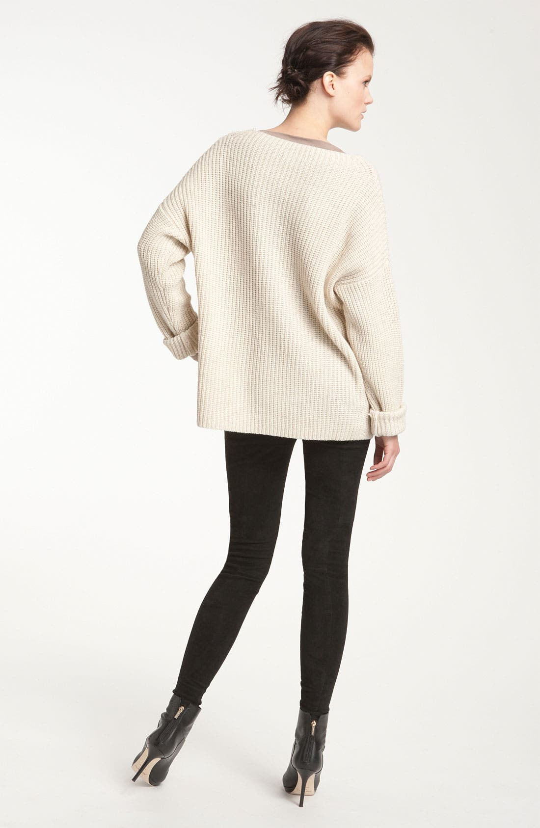 Alternate Image 2  - Vince Ribbed Drop Shoulder Boxy Sweater