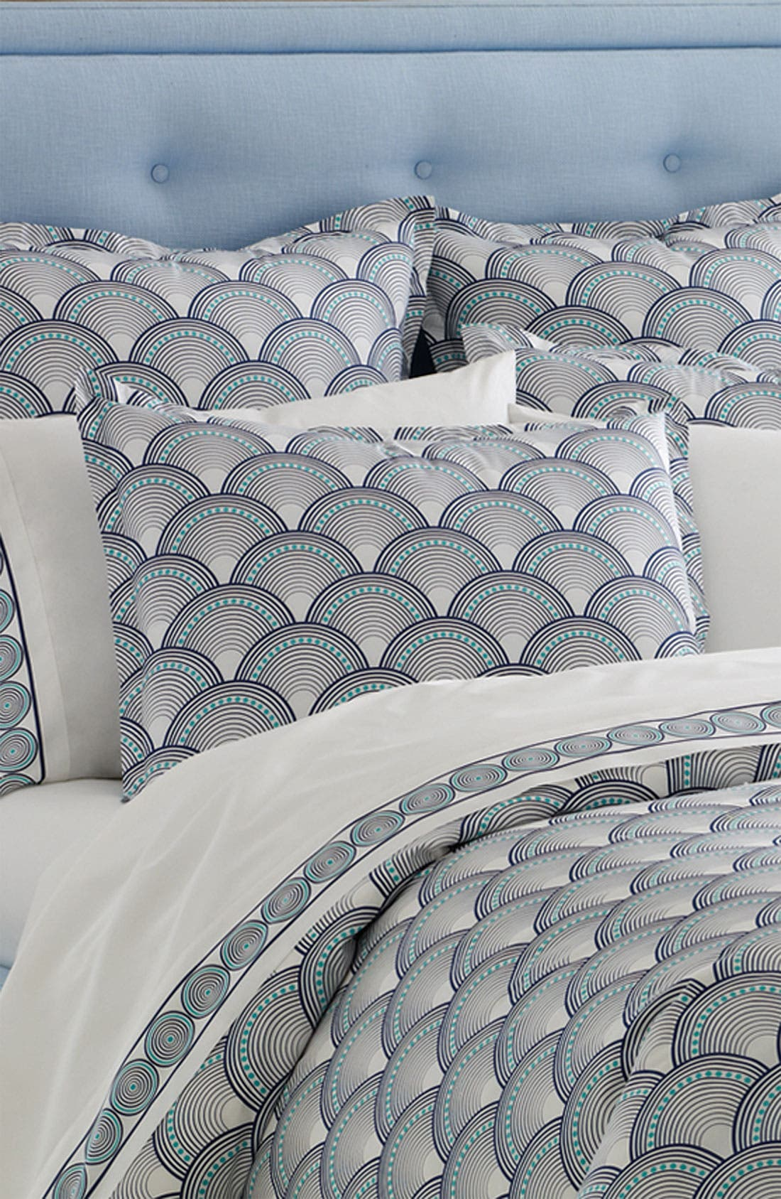 Alternate Image 1 Selected - Jonathan Adler 'Fish Scales' 400 Thread Count Duvet Cover