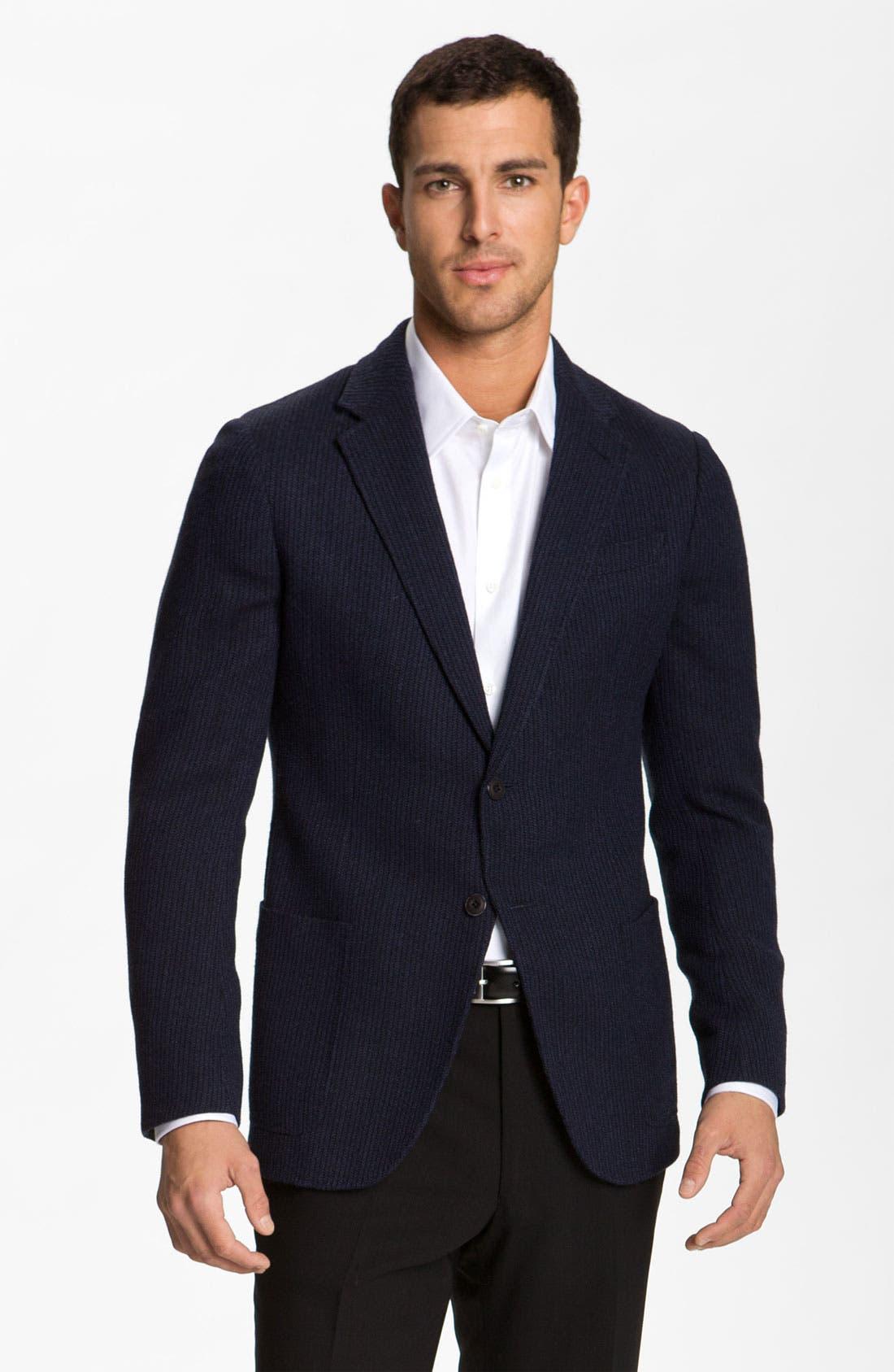 Alternate Image 1 Selected - Armani Collezioni Stripe Blazer