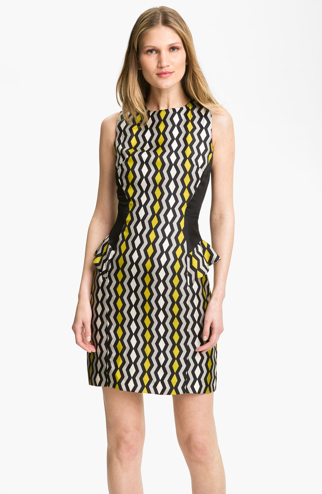 Alternate Image 1 Selected - Milly 'Viola' Geo Print Peplum Dress