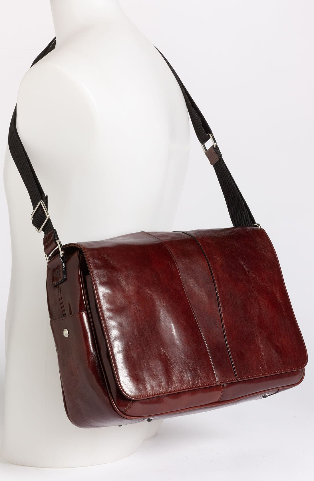 Alternate Image 2  - Bosca Leather Messenger Bag