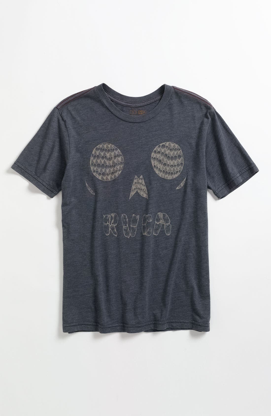 Alternate Image 1 Selected - RVCA 'Skull Face' T-Shirt (Big Boys)