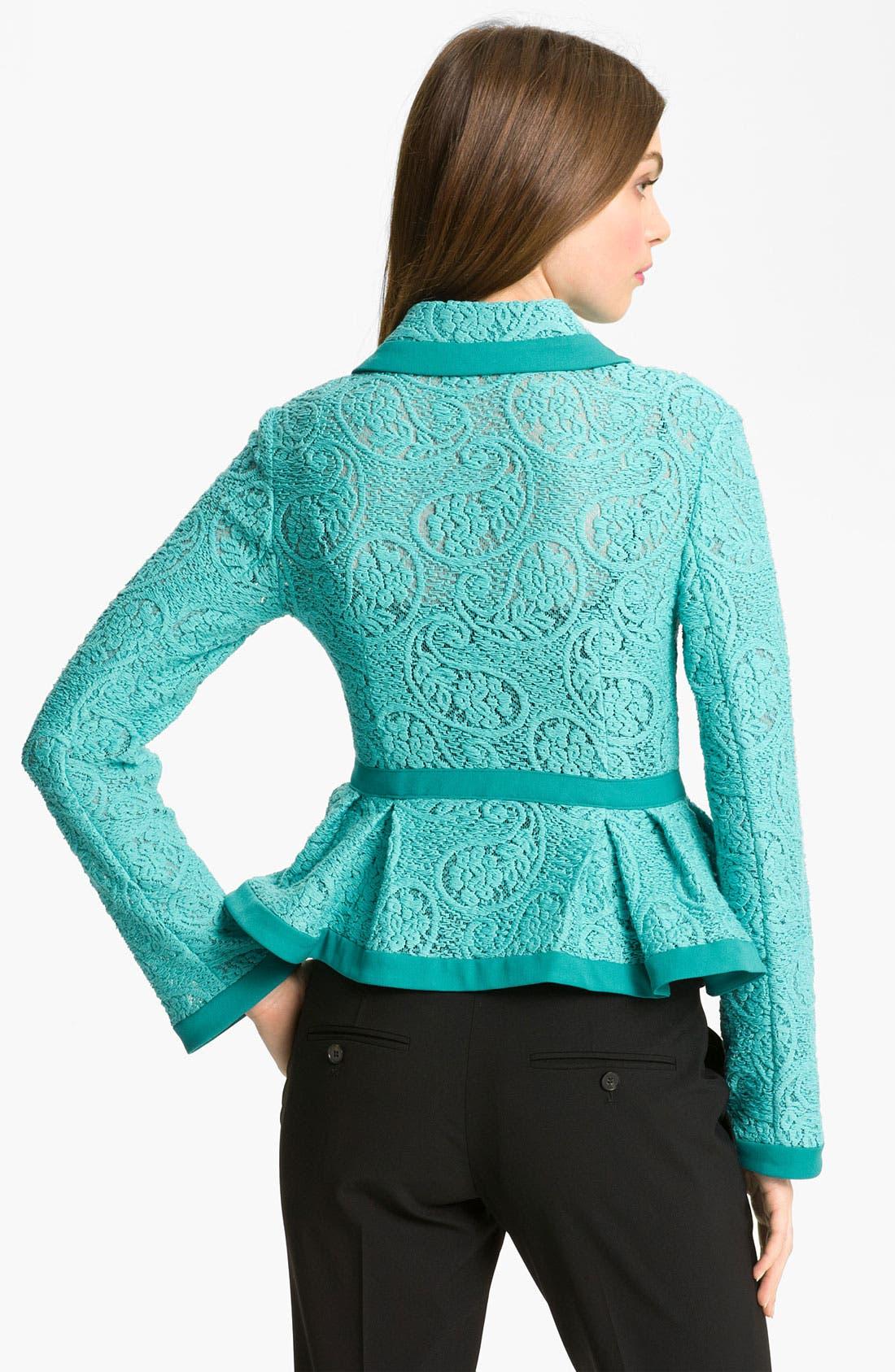 Alternate Image 2  - Nanette Lepore 'Summer Flame' Lace Jacket