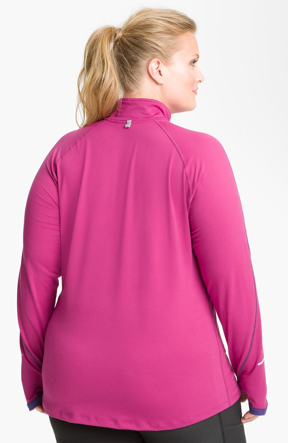 Alternate Image 2  - Nike 'Element' Half Zip Running Top (Plus Size)