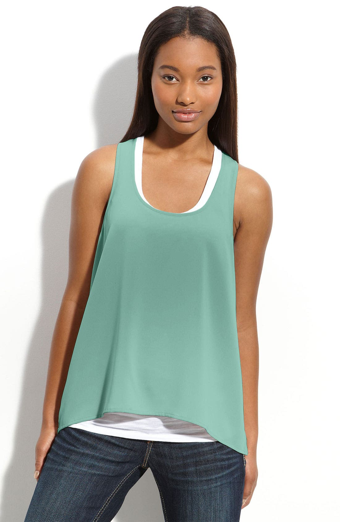 Alternate Image 1 Selected - Frenchi® Sleeveless Top (Juniors)