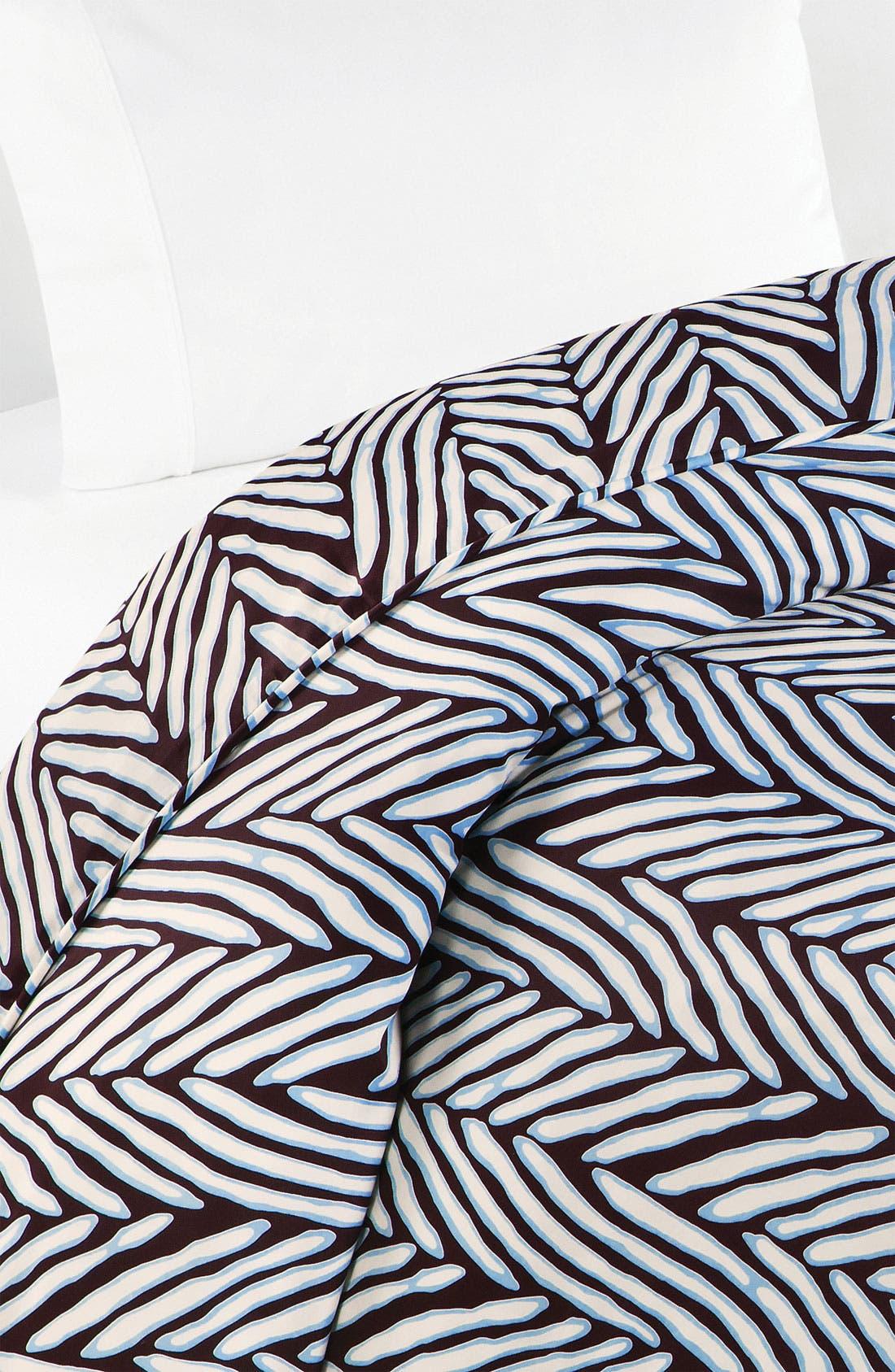 Alternate Image 1 Selected - Diane von Furstenberg 'Herringbone' 300 Thread Count Duvet Cover