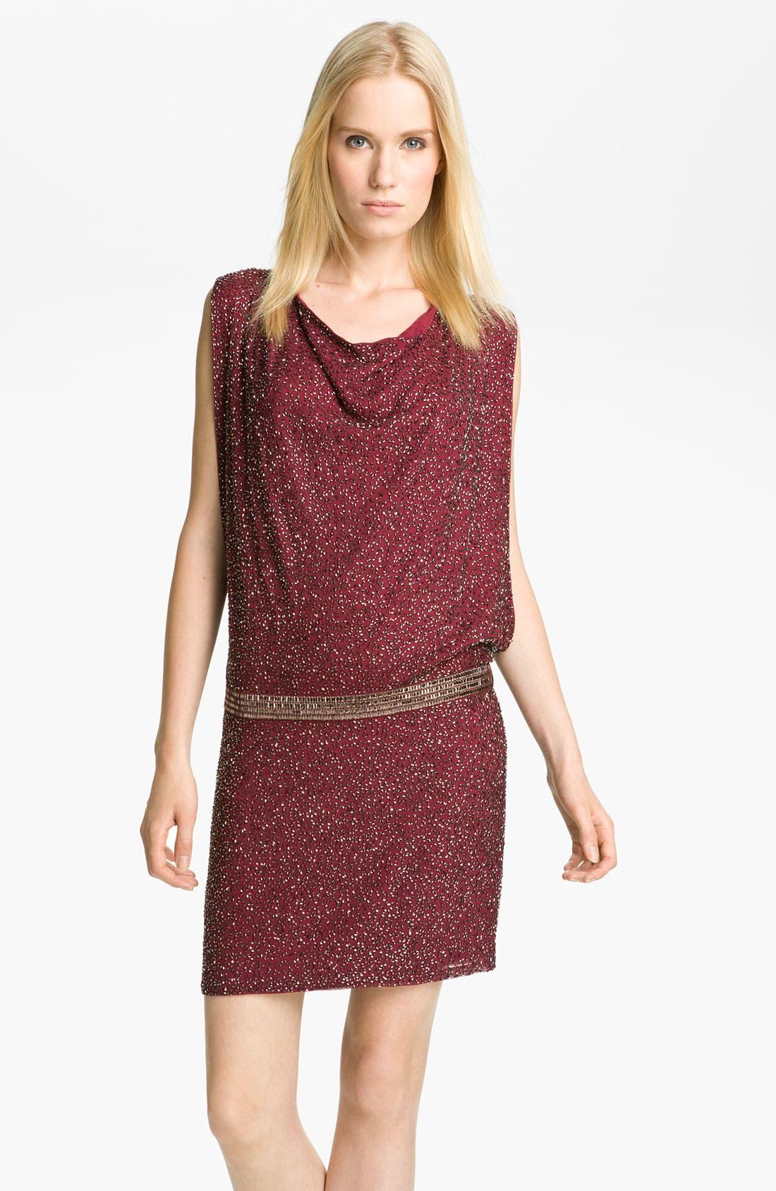 Beaded Drop Waist Dress