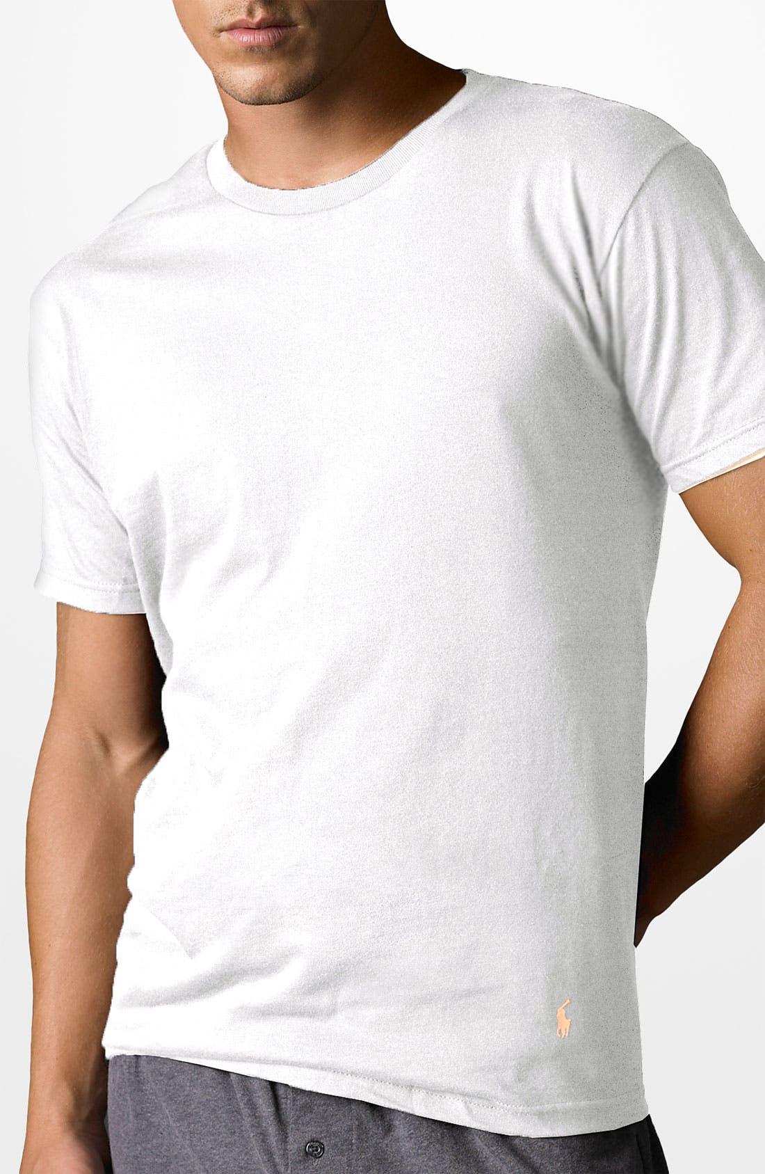 Alternate Image 1 Selected - Polo Ralph Lauren Cotton Crewneck T-Shirt (3-Pack)