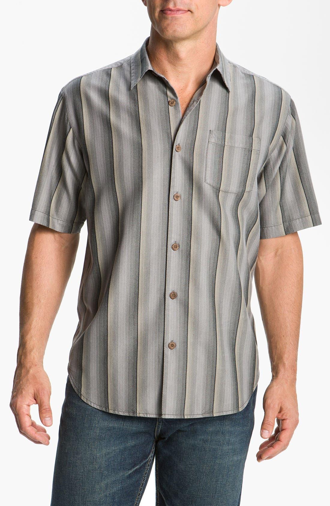 Alternate Image 1 Selected - Tommy Bahama 'Sampan Stripe' Silk Sport Shirt