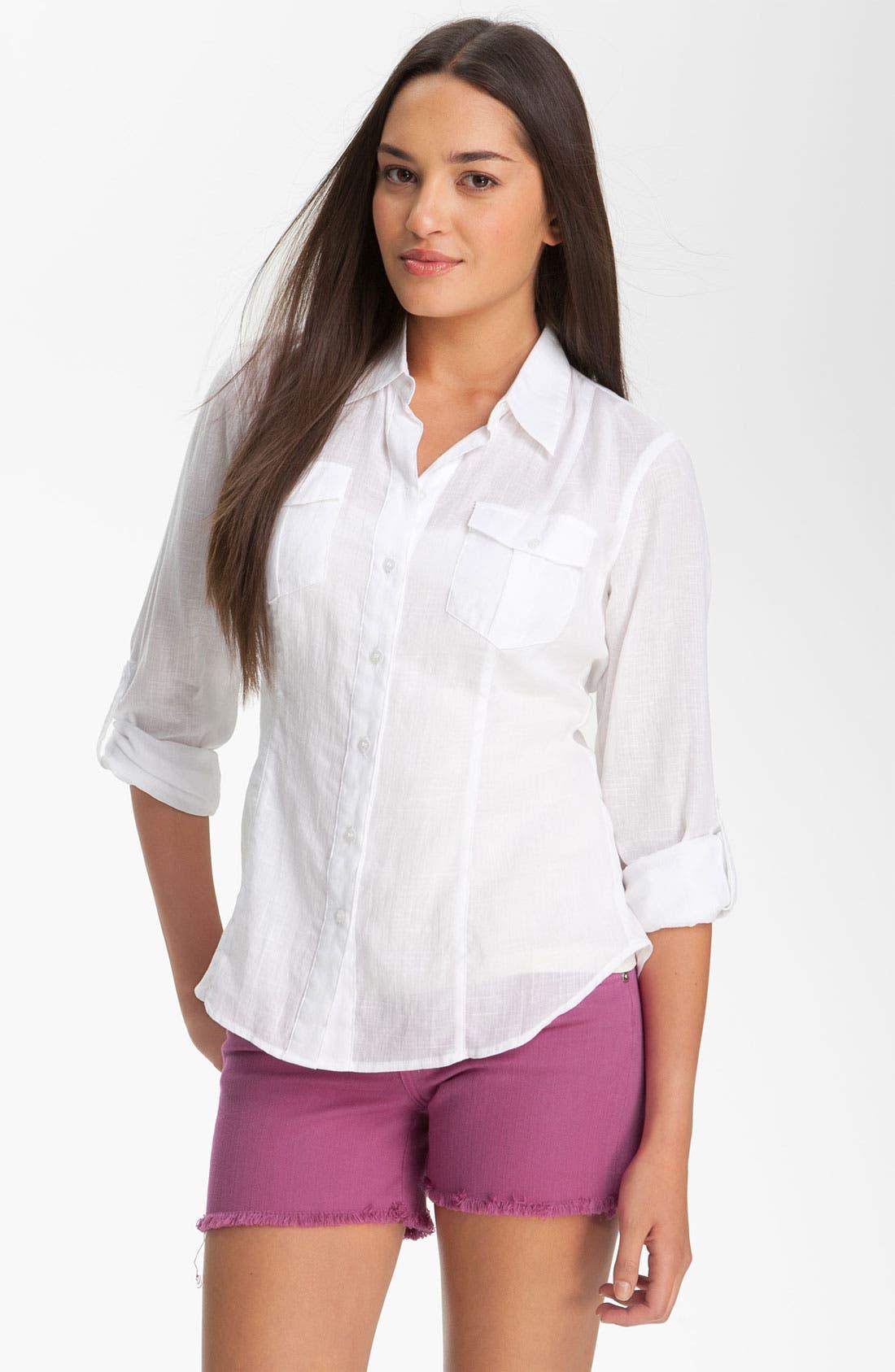 Alternate Image 1 Selected - Sandra Ingrish Roll Sleeve Shirt