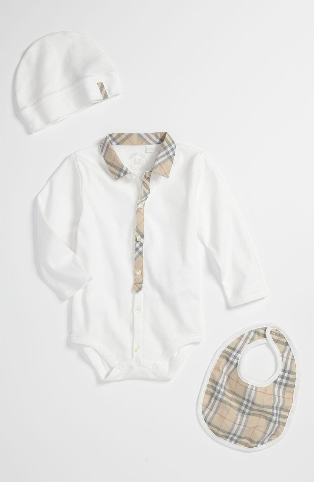 Alternate Image 1 Selected - Burberry Bodysuit Set (Baby)