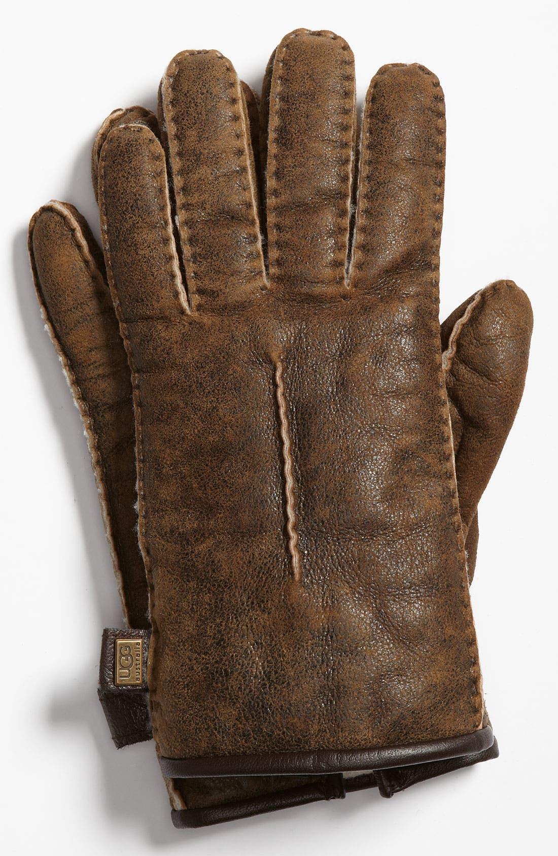 Alternate Image 1 Selected - UGG® Australia Genuine Shearling Gloves