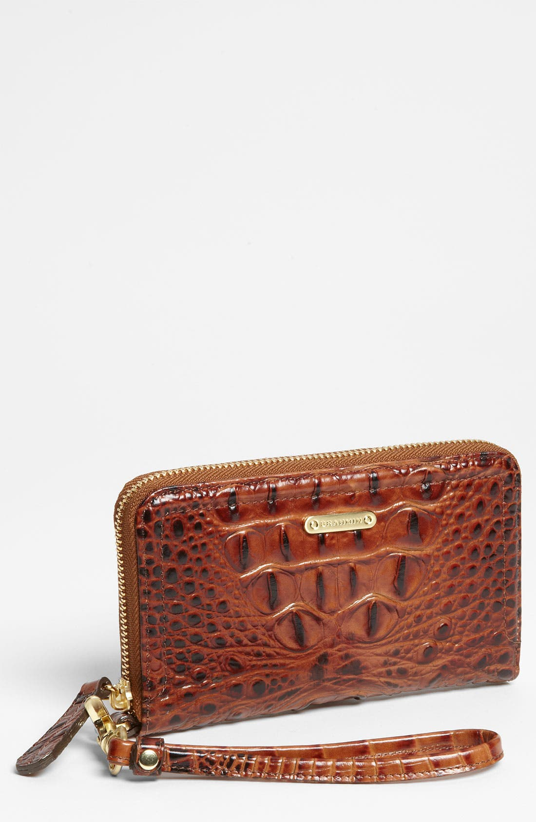 Alternate Image 1 Selected - Brahmin 'Riley' Croc Embossed Leather Wristlet