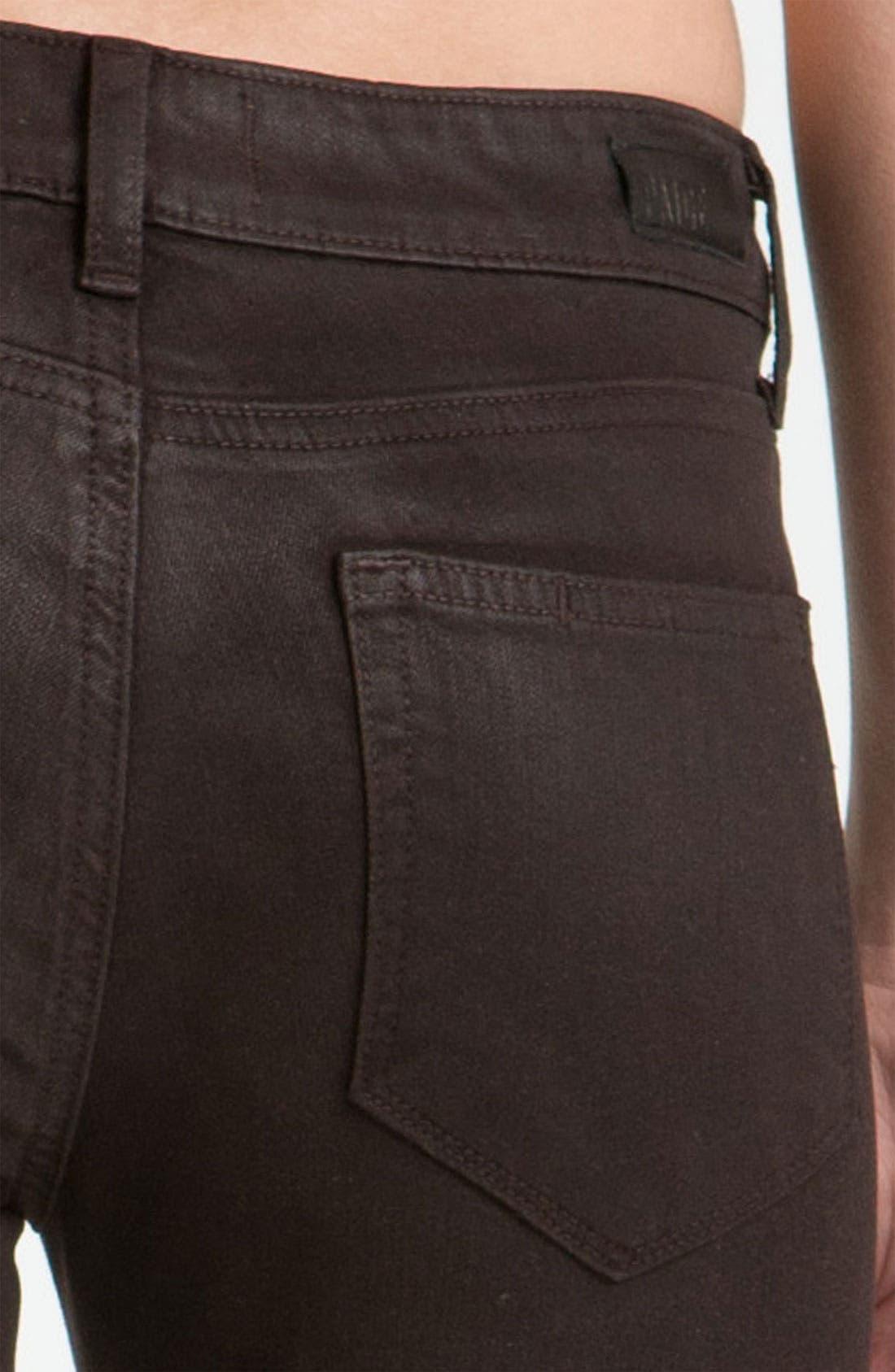Alternate Image 3  - Paige Denim 'Verdugo' Coated Skinny Jeans (Java)