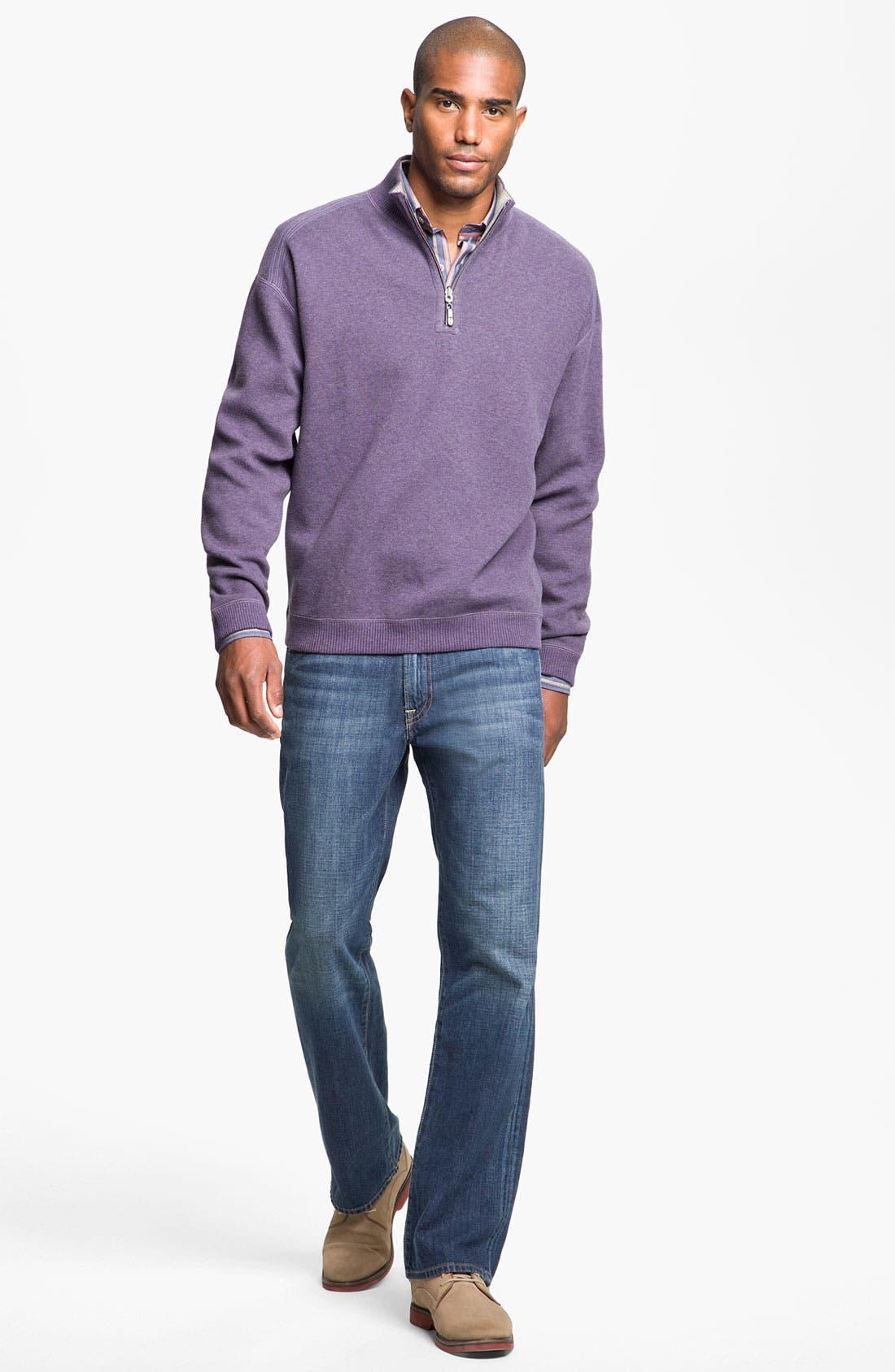 Alternate Image 4  - Cutter & Buck 'Harvest' Stripe Sport Shirt (Big & Tall) (Online Only)