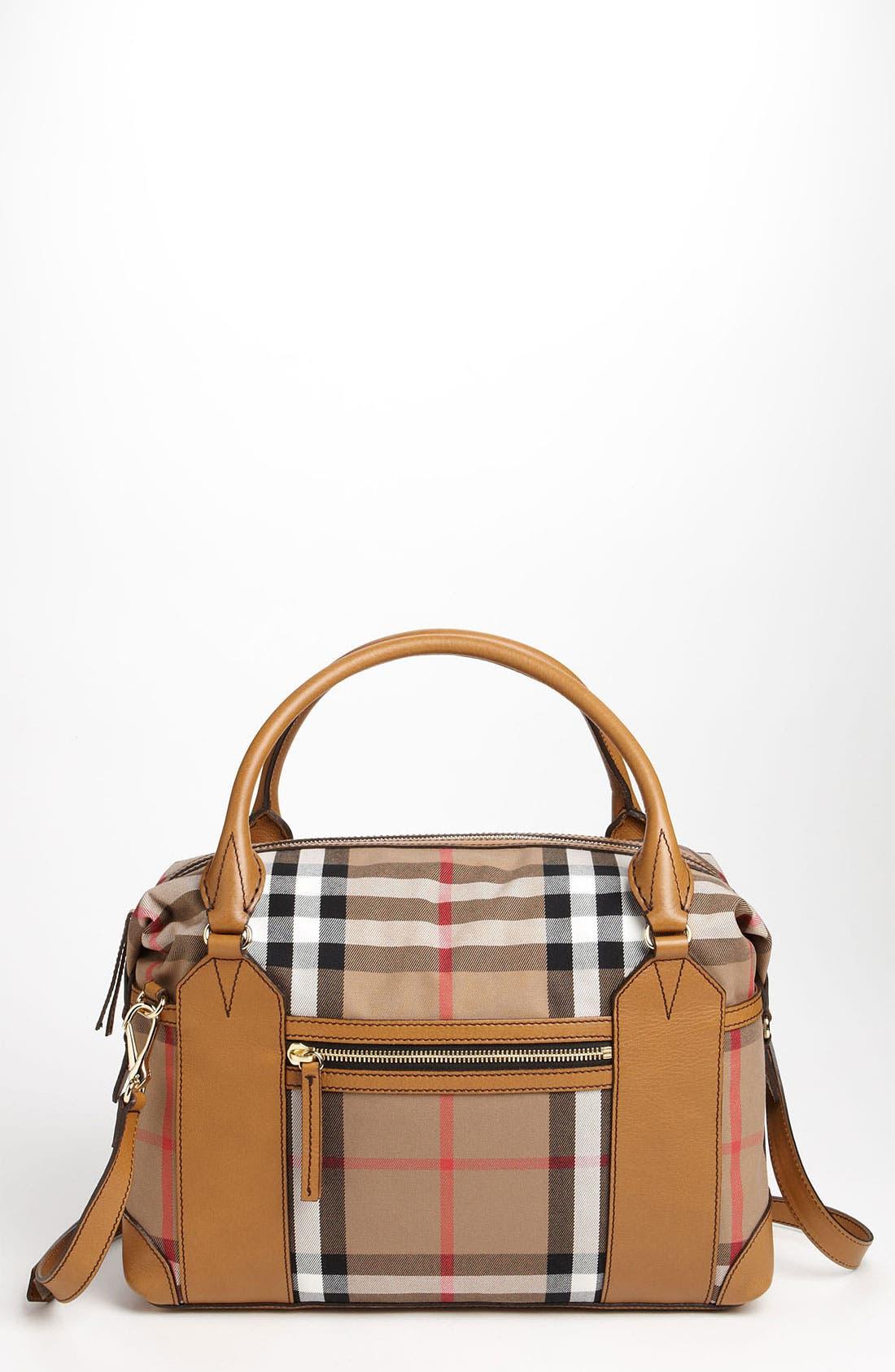 Alternate Image 1 Selected - Burberry 'House Check' Diaper Bag