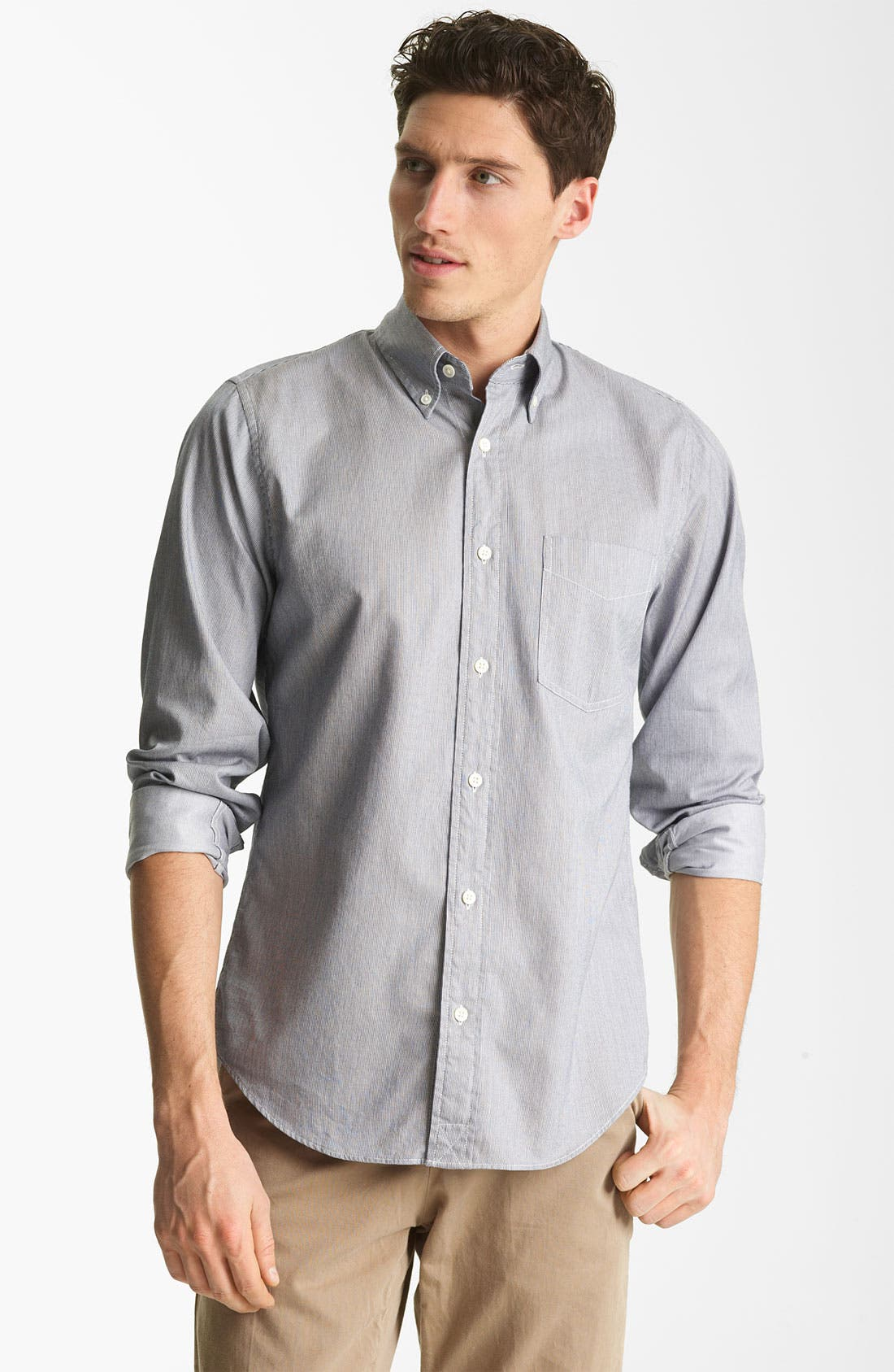 Alternate Image 1 Selected - Jack Spade 'Mills' Stripe Sport Shirt