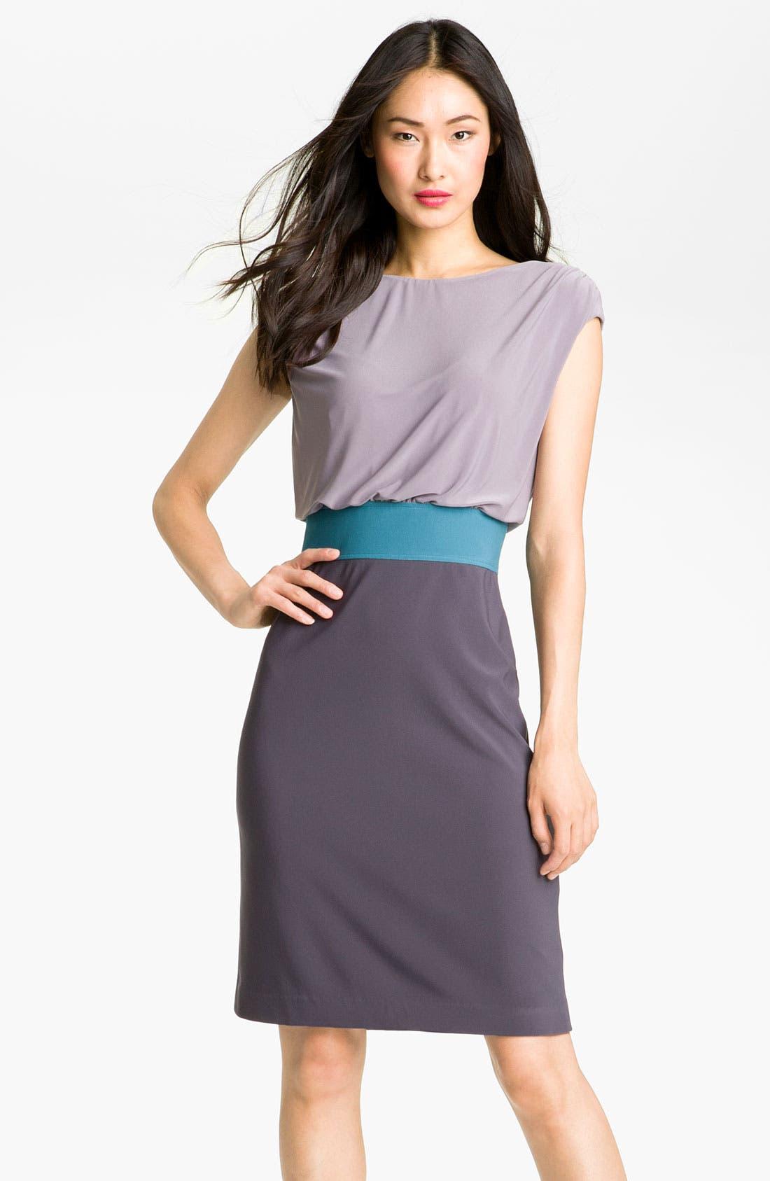 Main Image - Adrianna Papell Colorblock Blouson Jersey Dress