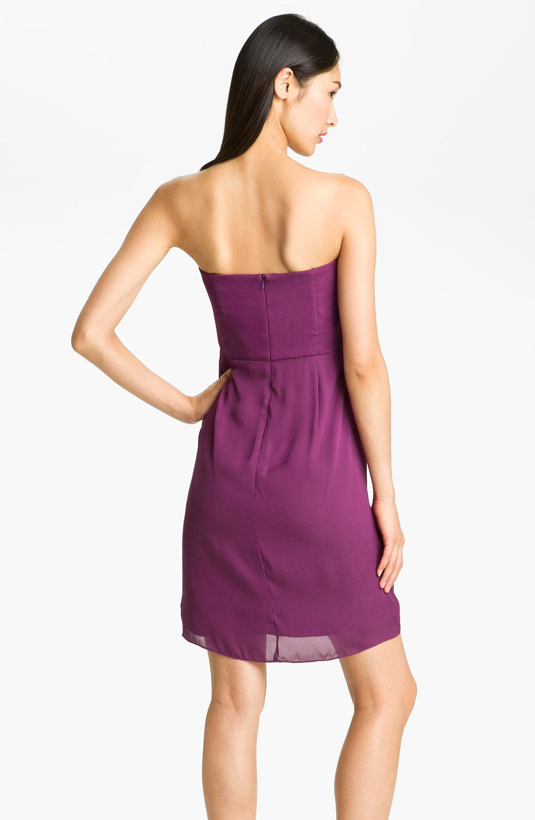 Alternate Image 2  - Max & Cleo 'Jenna' Front Knot Strapless Chiffon Dress