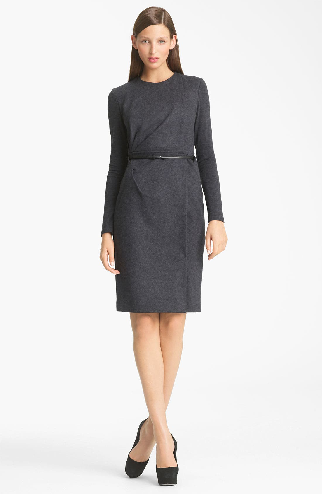 Main Image - Max Mara 'Santos' Belted Wool Jersey Dress