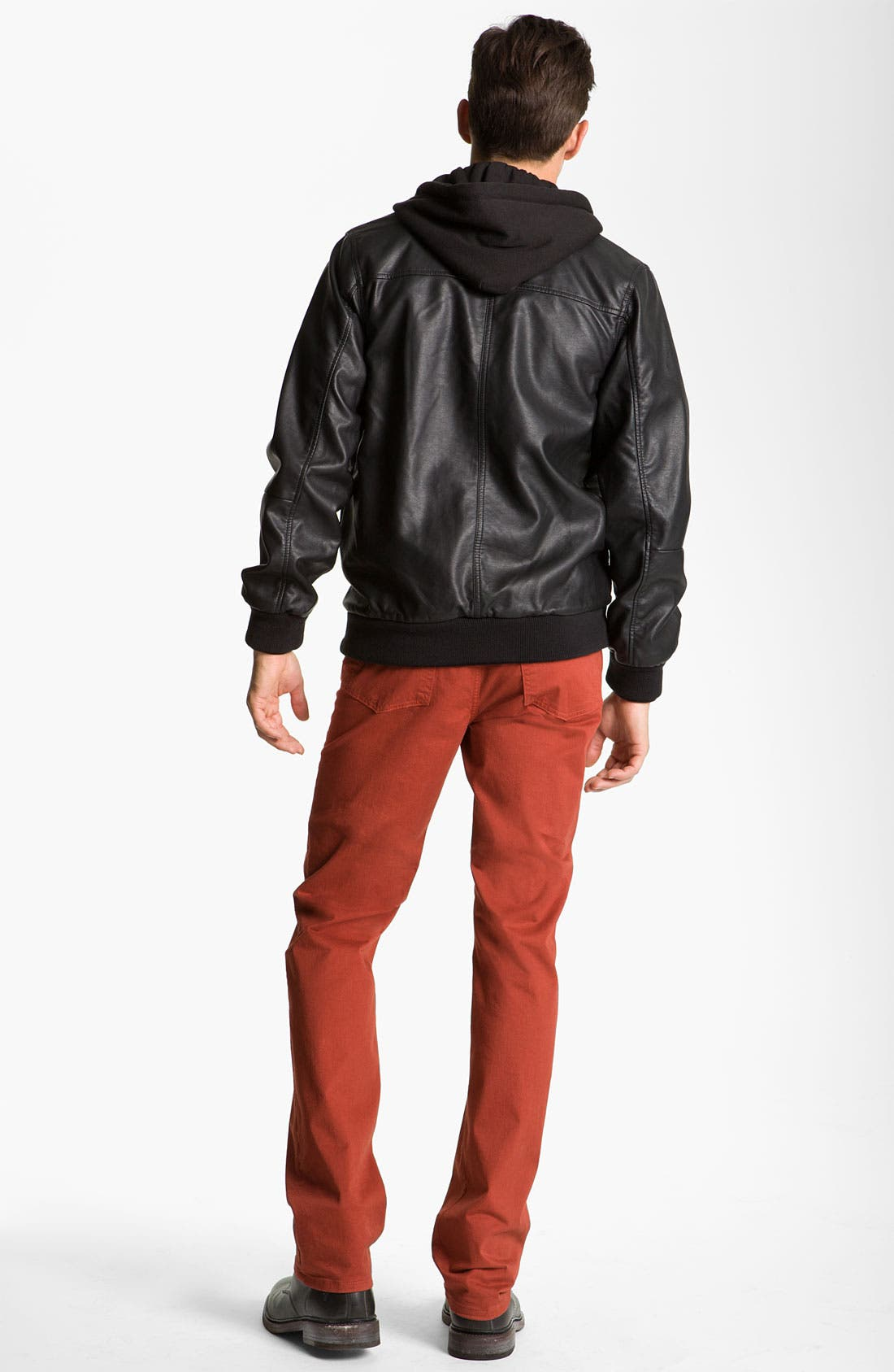 Alternate Image 5  - Obey 'Rapture' Trim Fit Layered Faux Leather Jacket