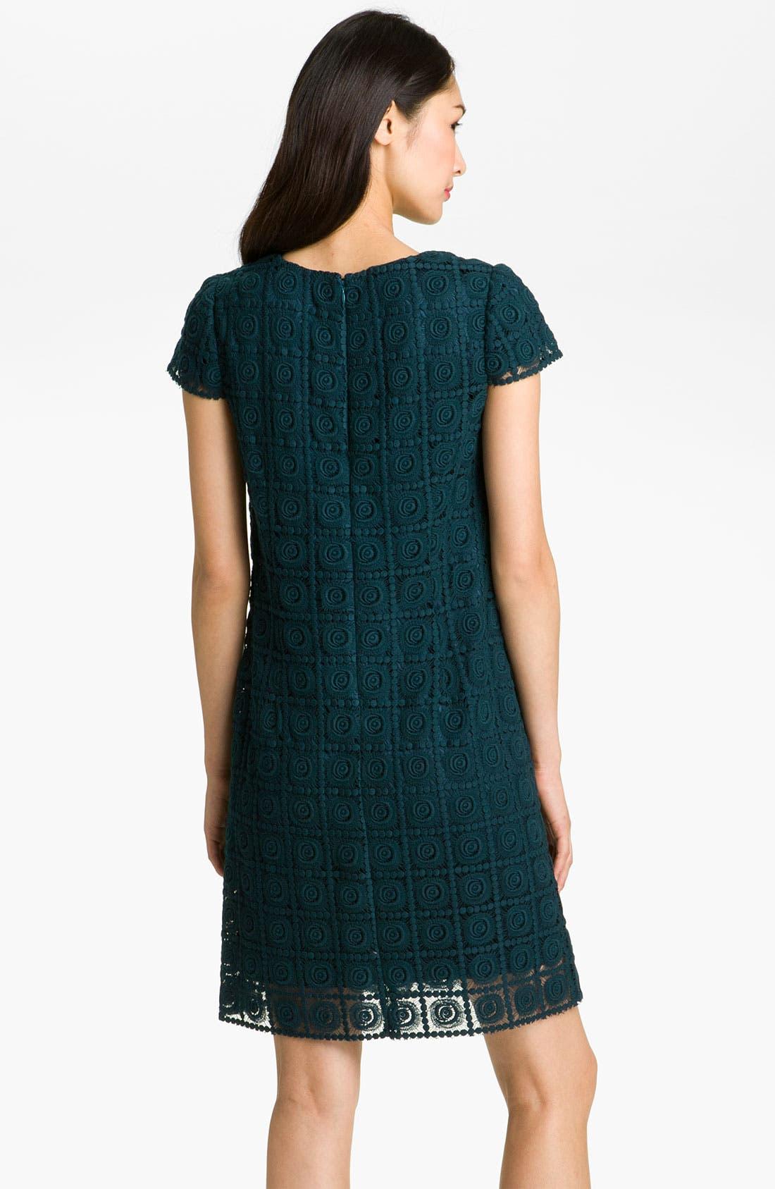 Alternate Image 2  - Suzi Chin for Maggy Boutique Crochet Shift Dress
