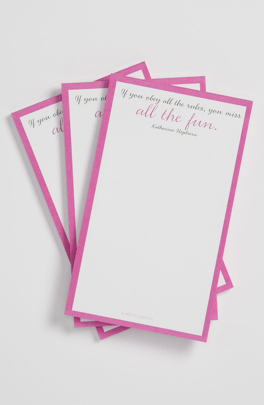 Alternate Image 1 Selected - Ben's Garden 'If You Obey All the Rules' Notepads (3-Pack)
