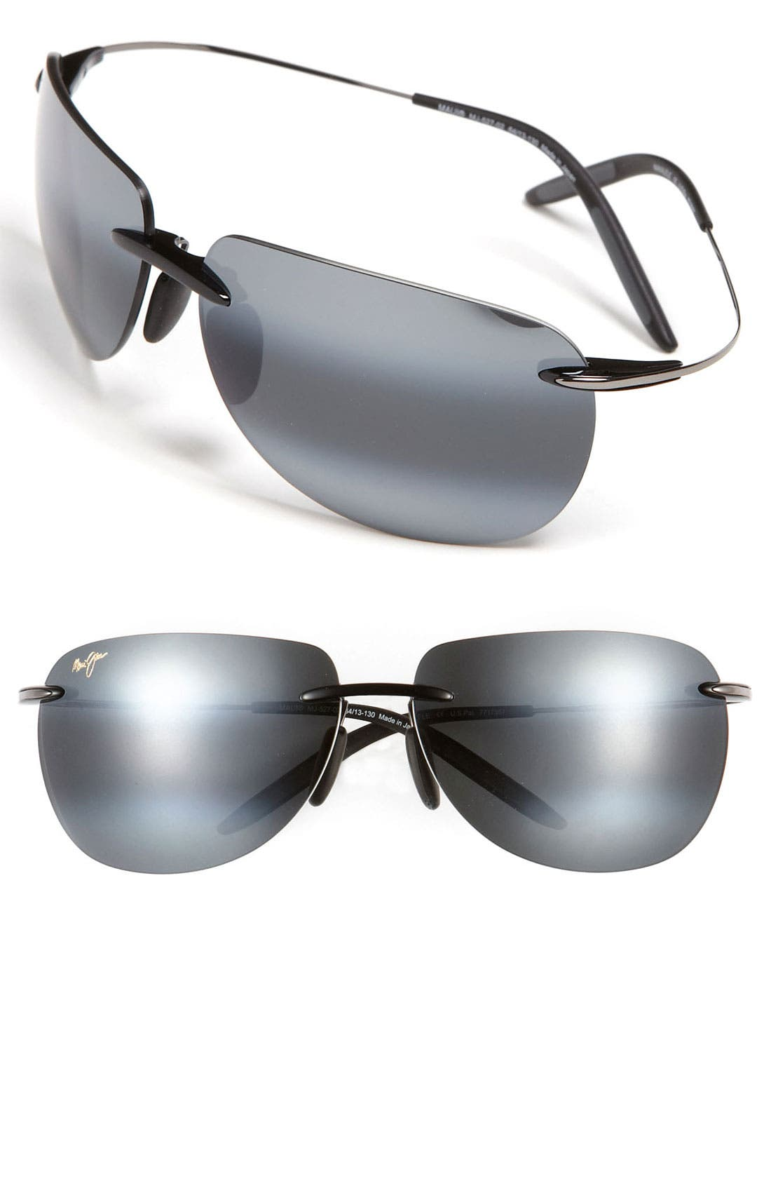 Main Image - Maui Jim 'Nakalele' PolarizedPlus®2 Rimless 64mm Sunglasses