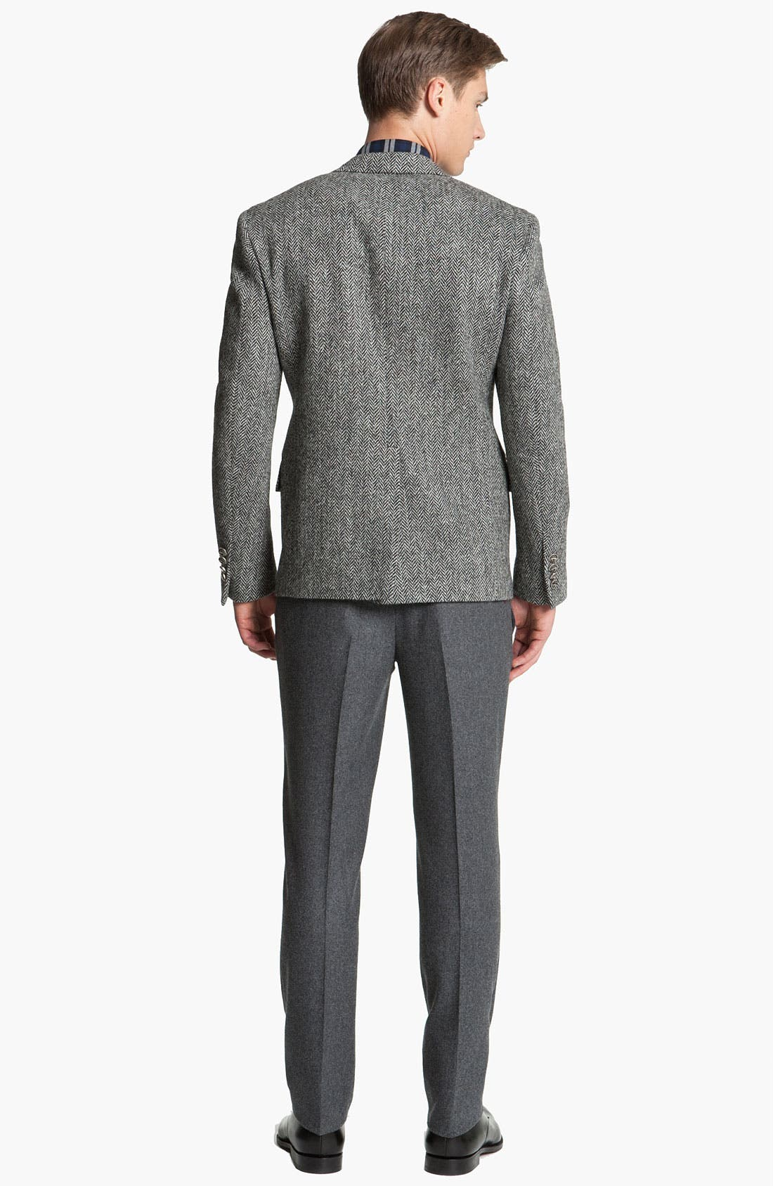 Alternate Image 5  - Brooks Brothers by Jeffrey Tweed Herringbone Blazer