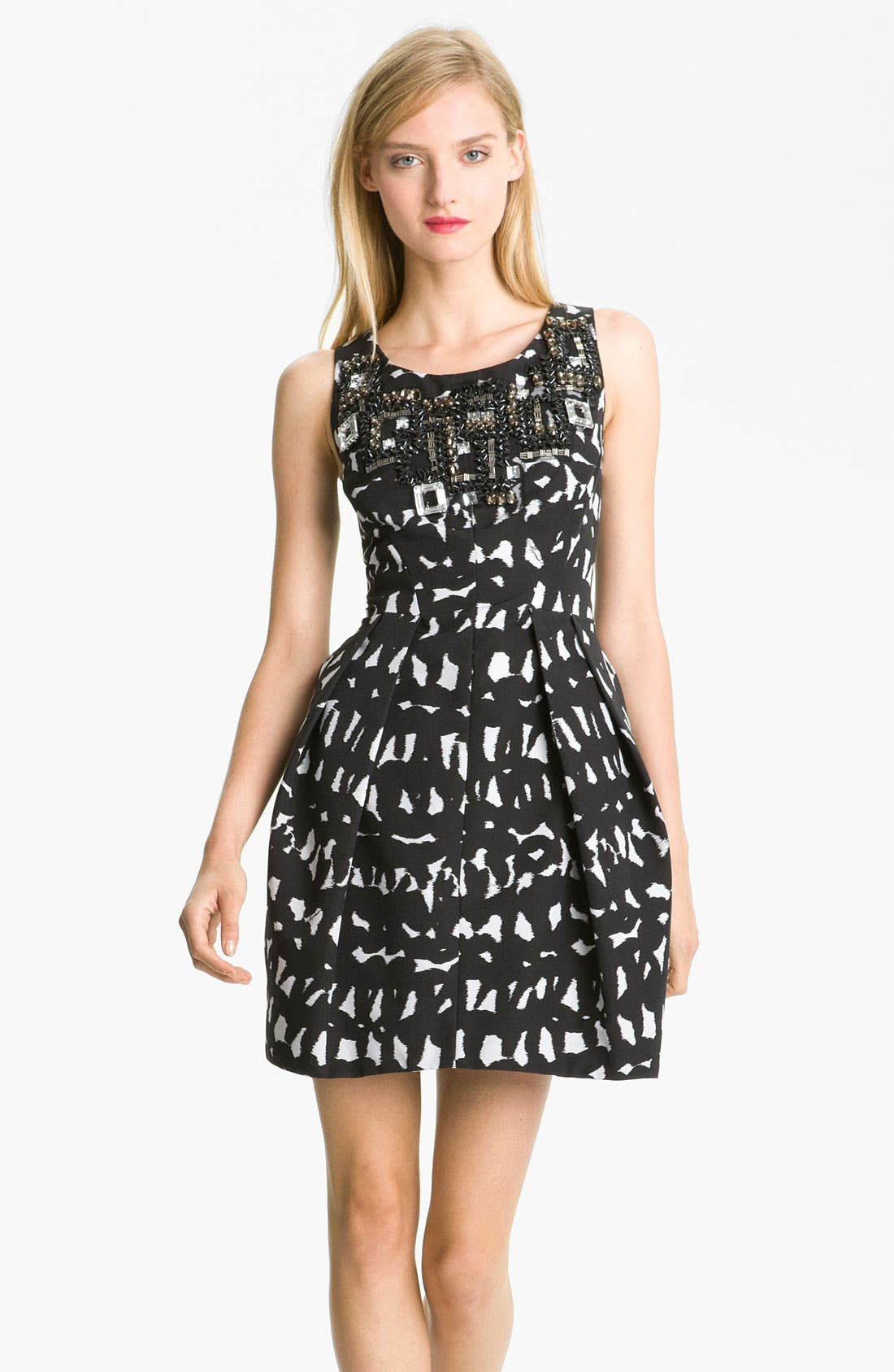 Main Image - Milly Embellished Fit & Flare Dress