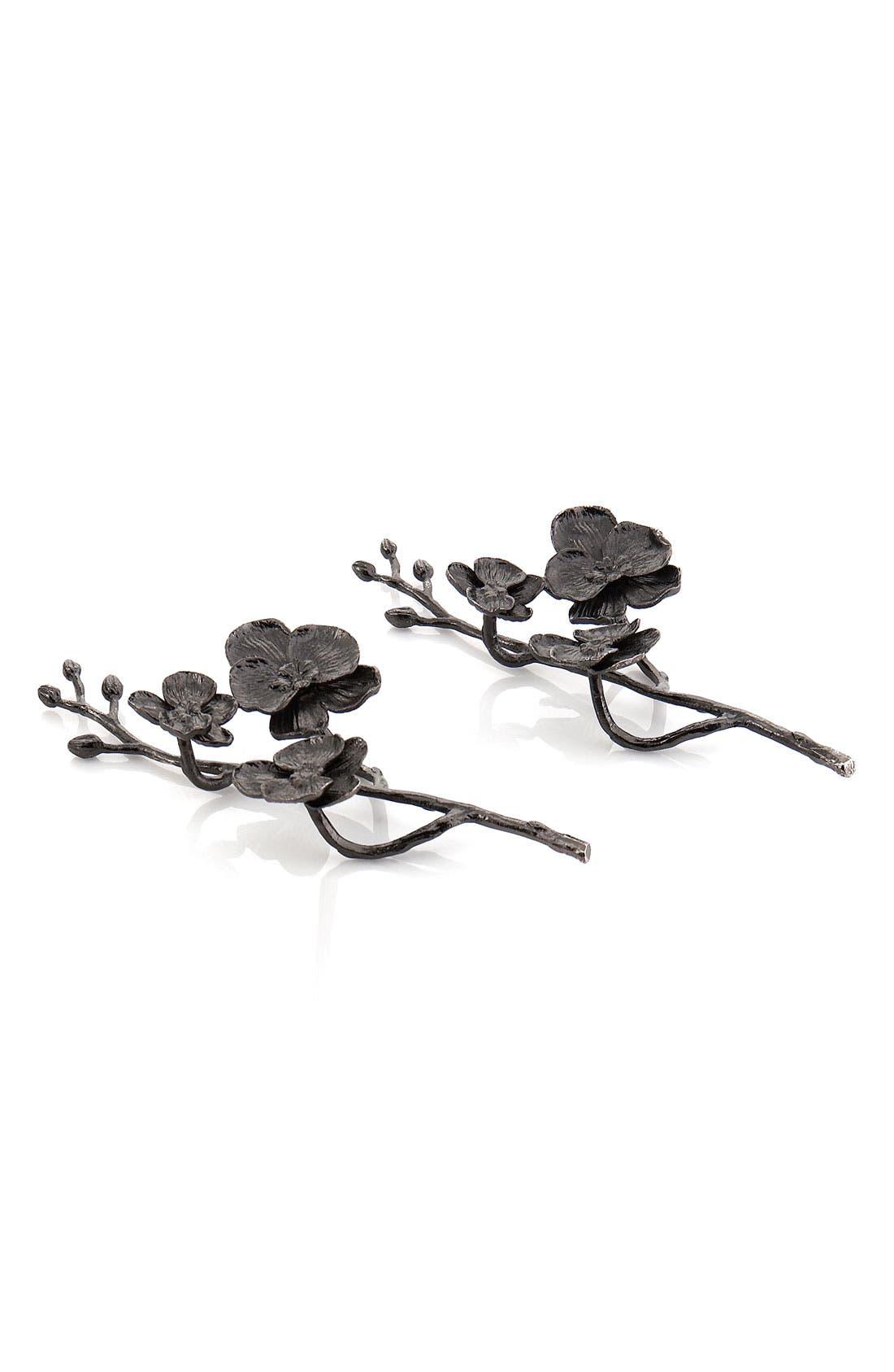 Alternate Image 1 Selected - Michael Aram 'Black Orchid' Napkin Rings (Set of 2)