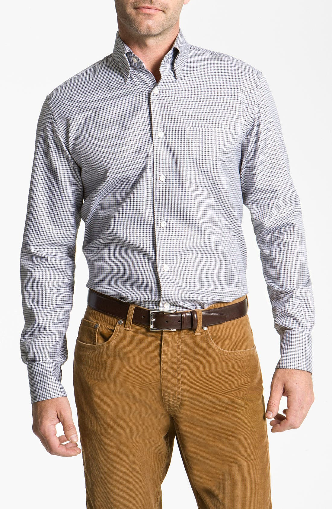 Main Image - Canali Regular Fit Woven Shirt