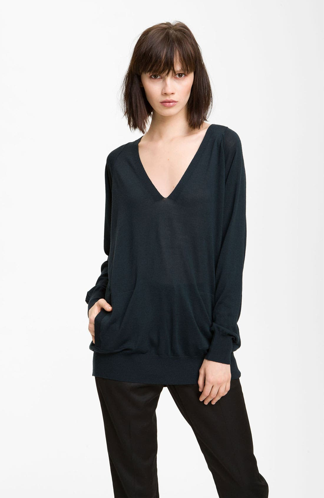 Alternate Image 1 Selected - Alexander Wang Long Merino Wool Sweater