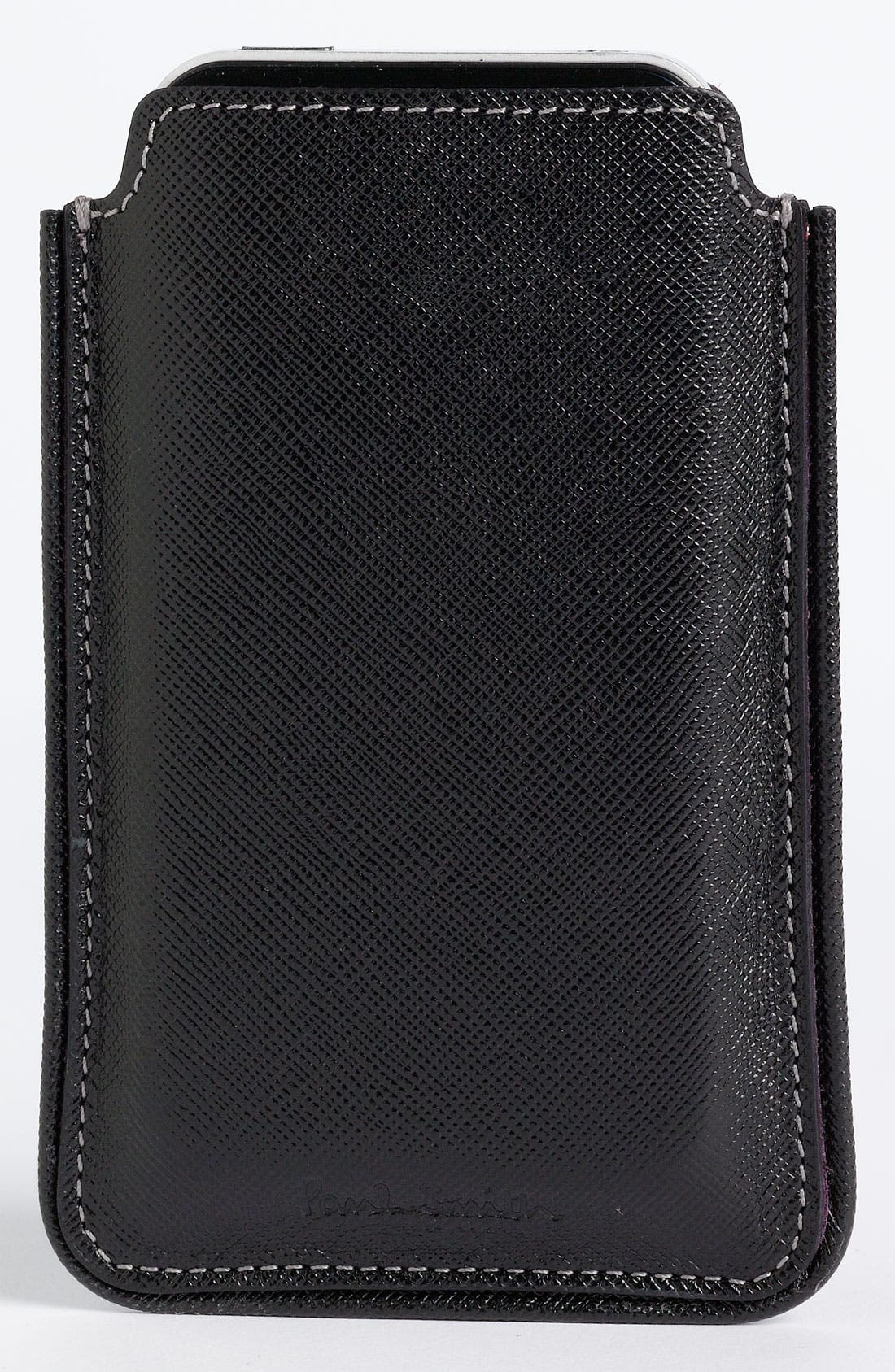 Alternate Image 4  - Paul Smith Accessories Leather iPhone Case