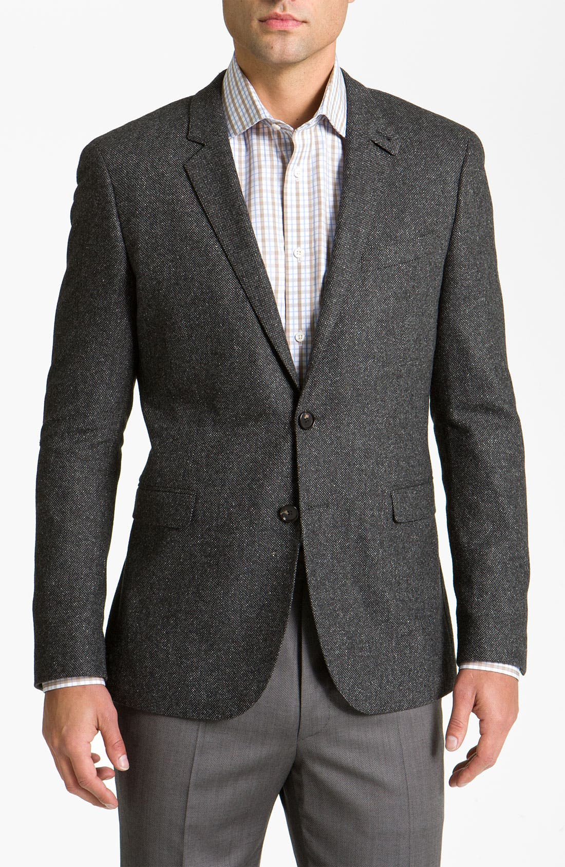 Main Image - BOSS Black 'Rhett' Extra Trim Fit Tweed Sportcoat