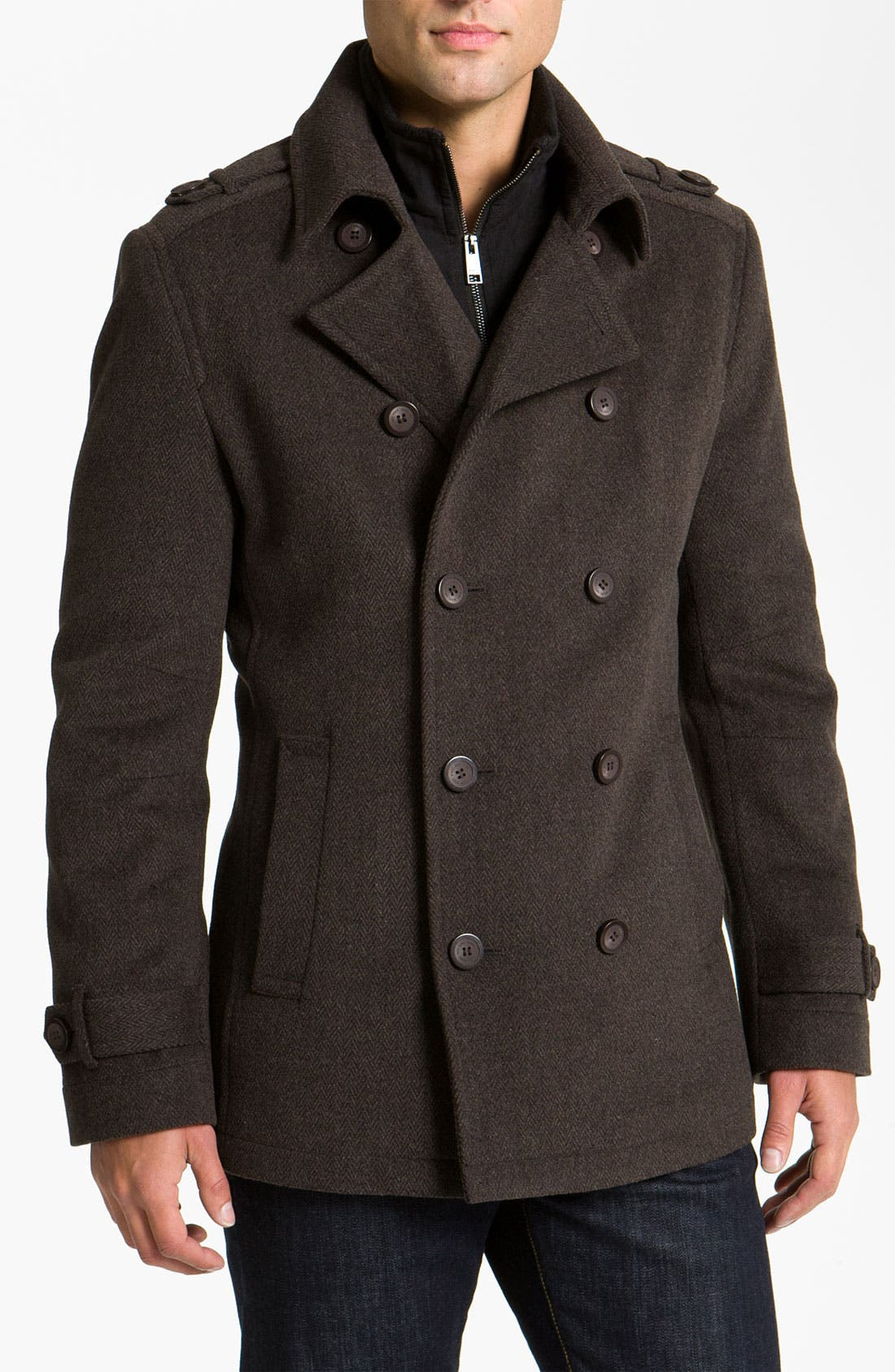 Main Image - Marc New York by Andrew Marc 'Holbrook' Double Breasted Peacoat