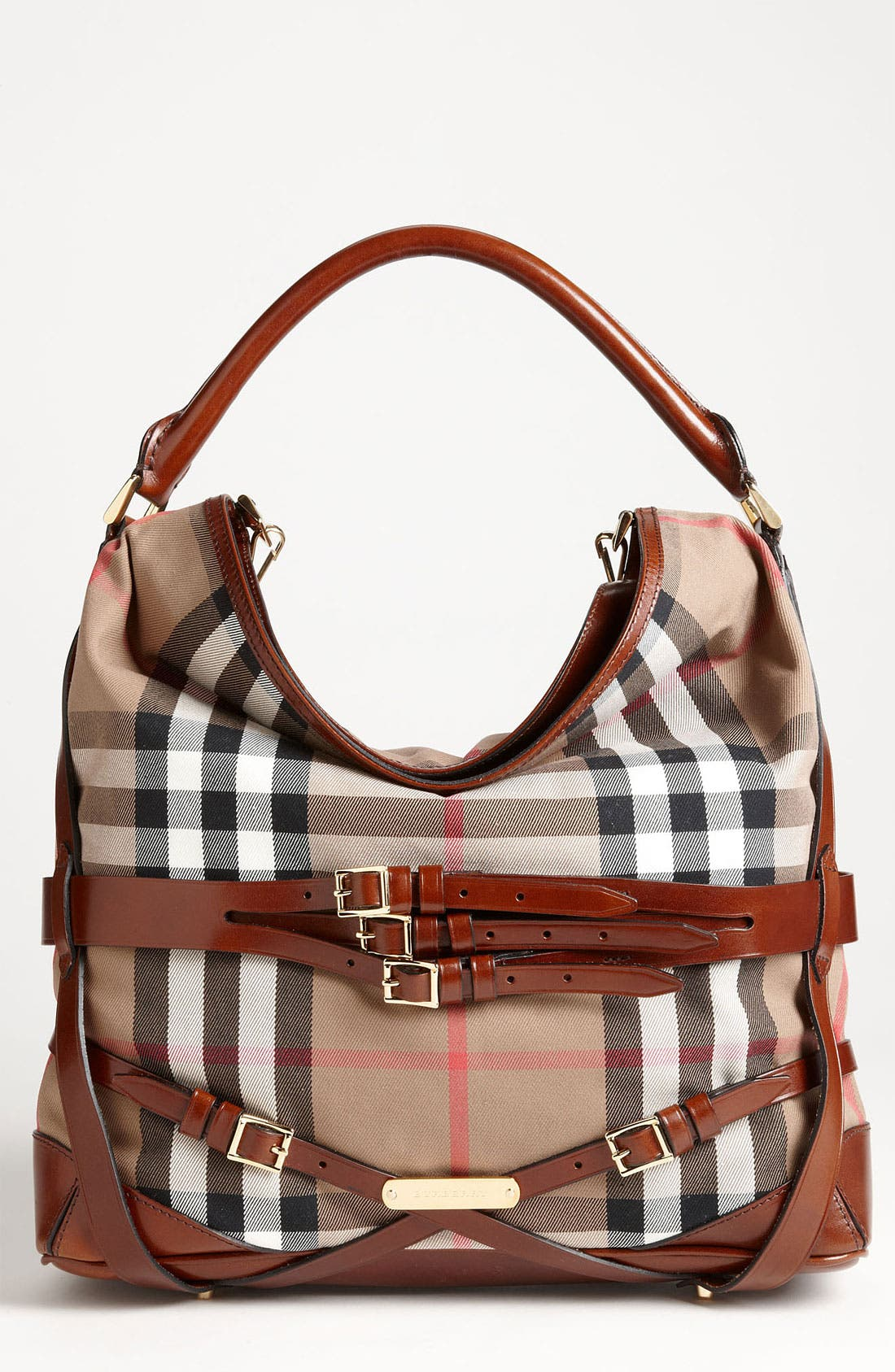 Main Image - Burberry 'House Check' Hobo, Large