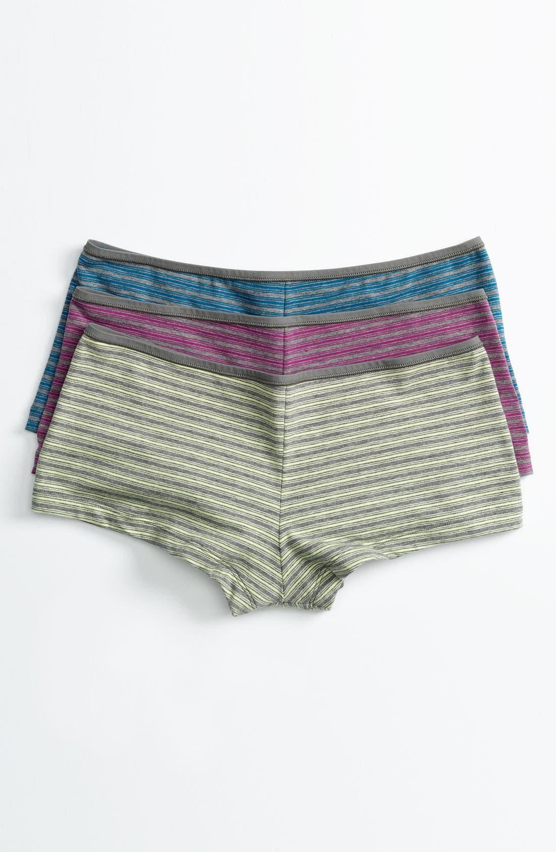 Alternate Image 2  - Shimera Stretch Cotton Boyshorts (4 for $34)