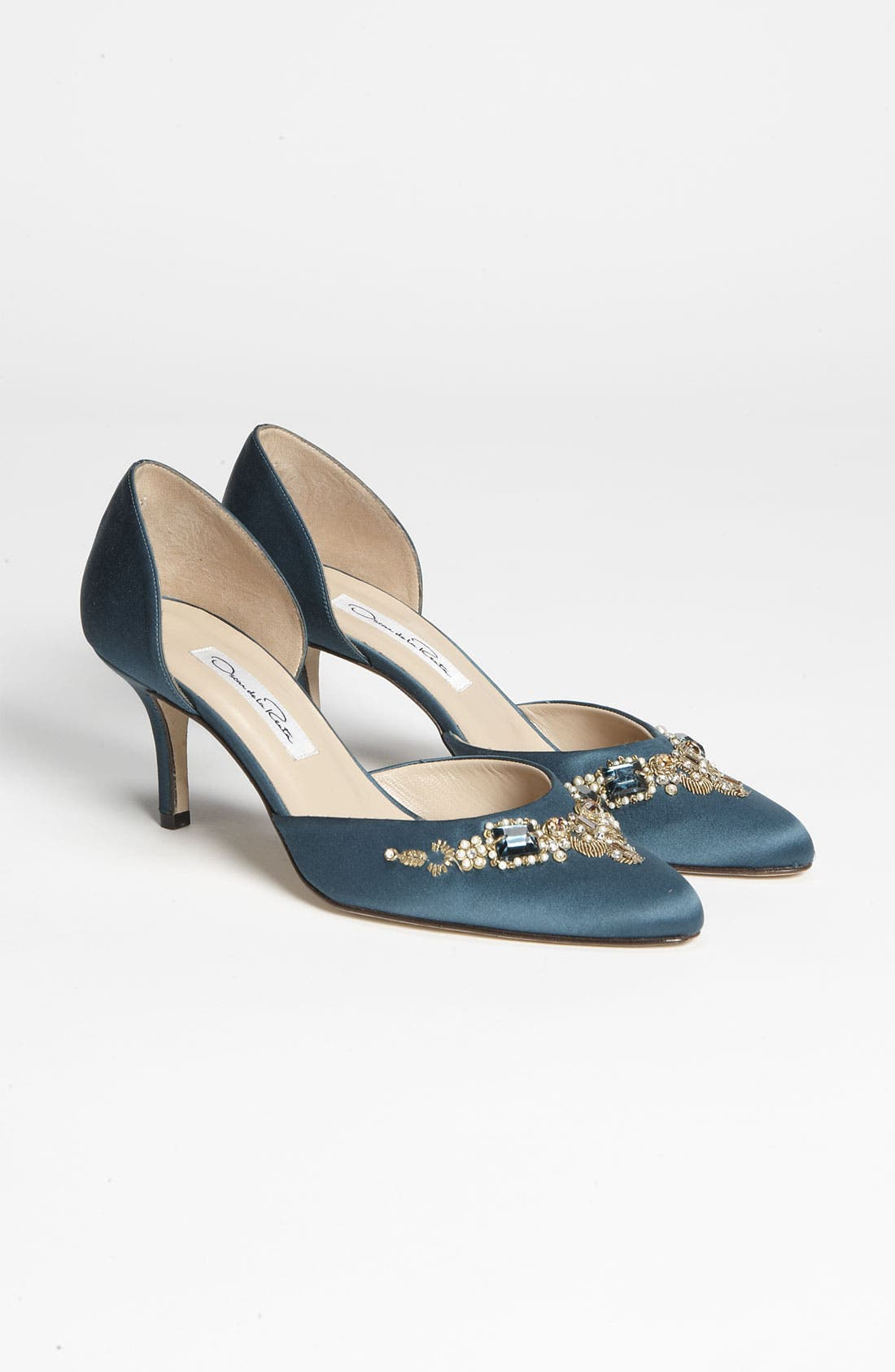 Alternate Image 4  - Oscar de la Renta 'Binato' Beaded Satin d'Orsay Pump