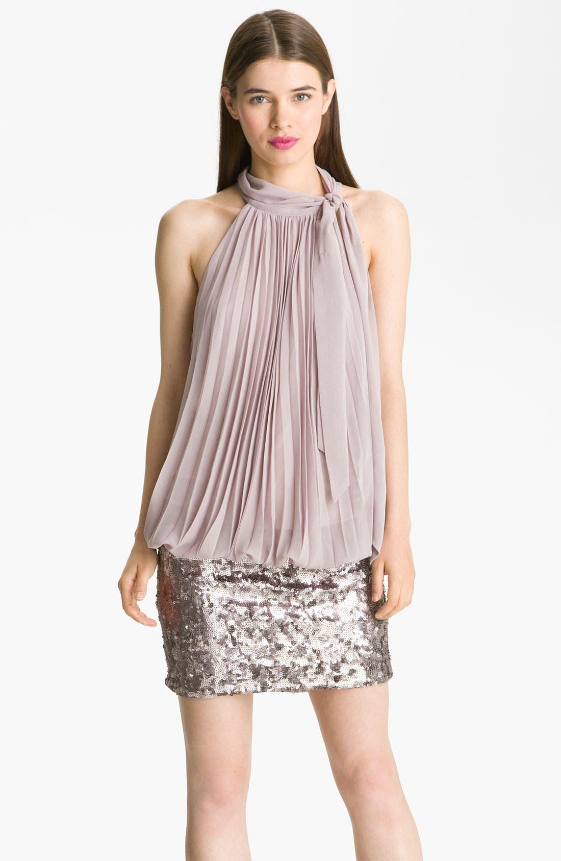 Alternate Image 1 Selected - Alberto Makali Pleated Blouson Dress