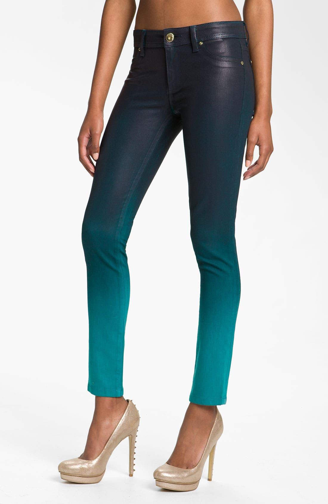 Main Image - DL1961 'Emma' Waxed Skinny Jeans (Bali)