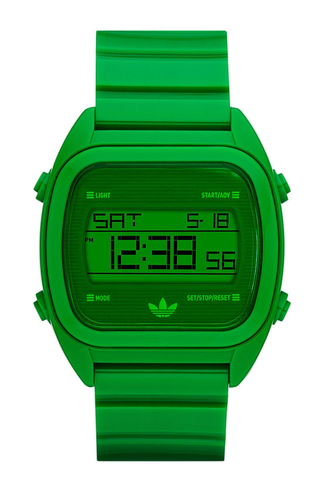 Main Image - adidas Originals 'Sydney' Digital Resin Strap Watch, 40mm