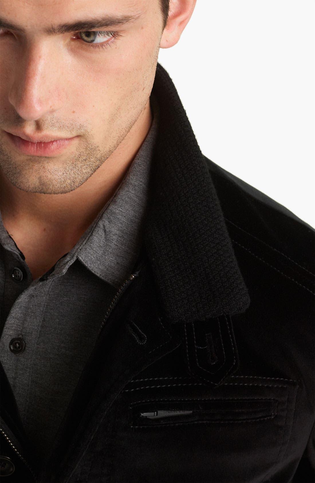 Alternate Image 3  - Armani Collezioni Velvet Jacket