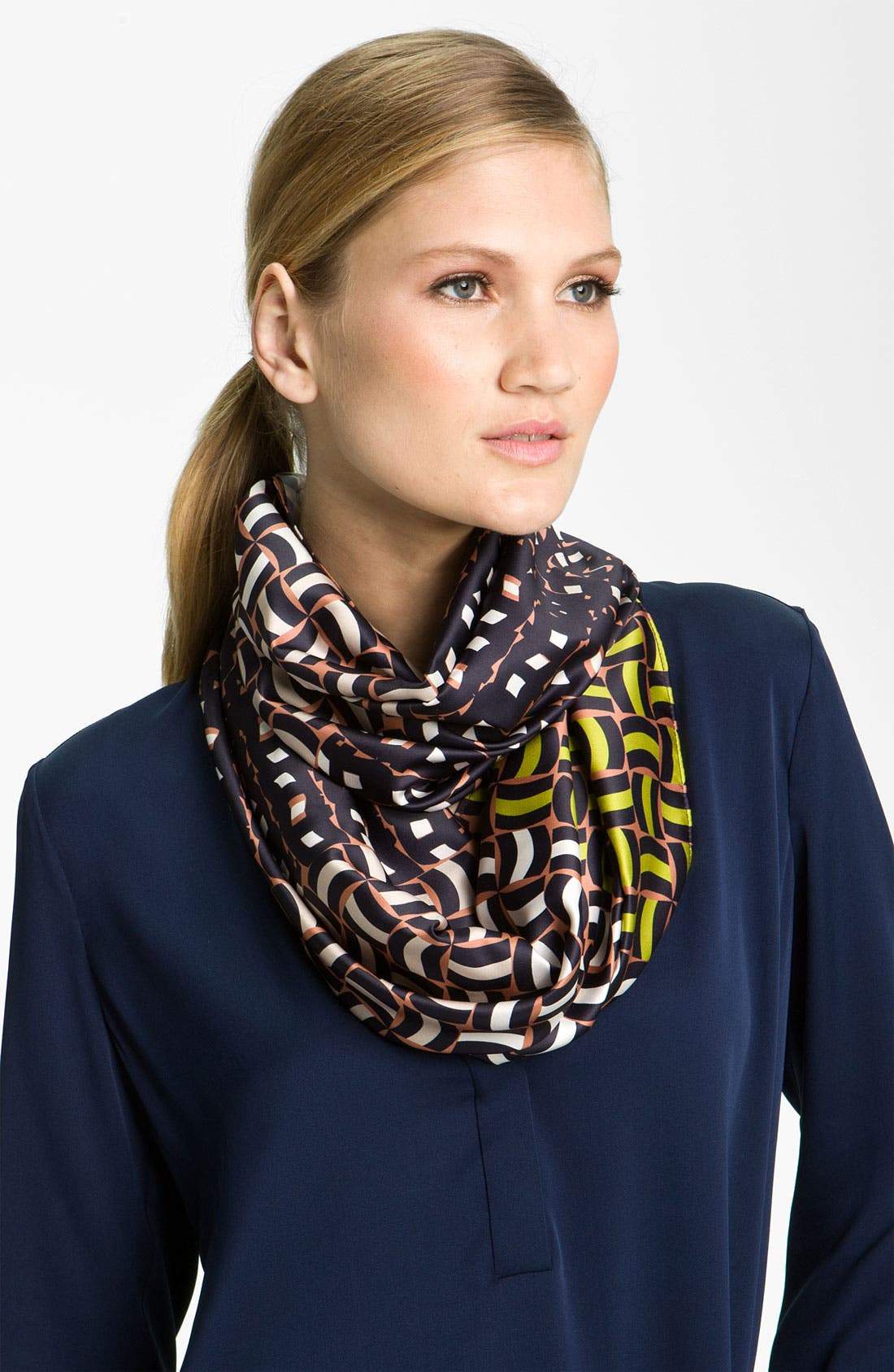 Main Image - Trouvé Chain Print Infinity Scarf