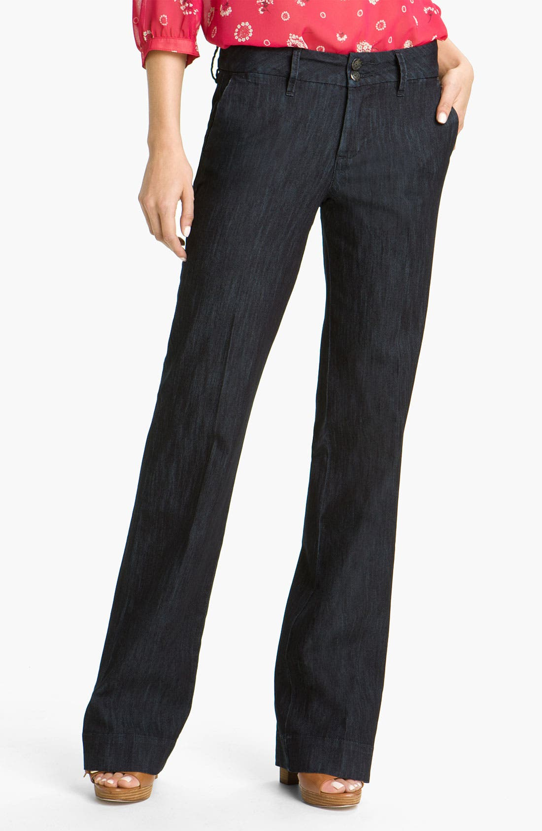 Alternate Image 1 Selected - Jag Jeans 'Pearl' Trouser Jeans (Dark Storm Wash)