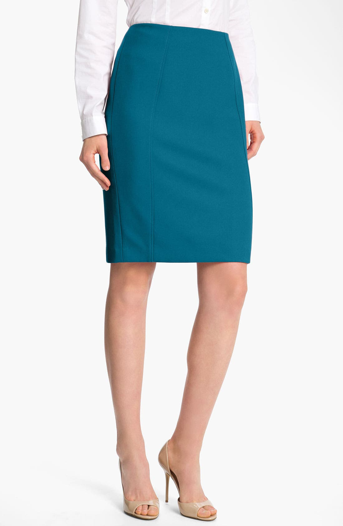Main Image - Halogen® Seamed Pencil Skirt
